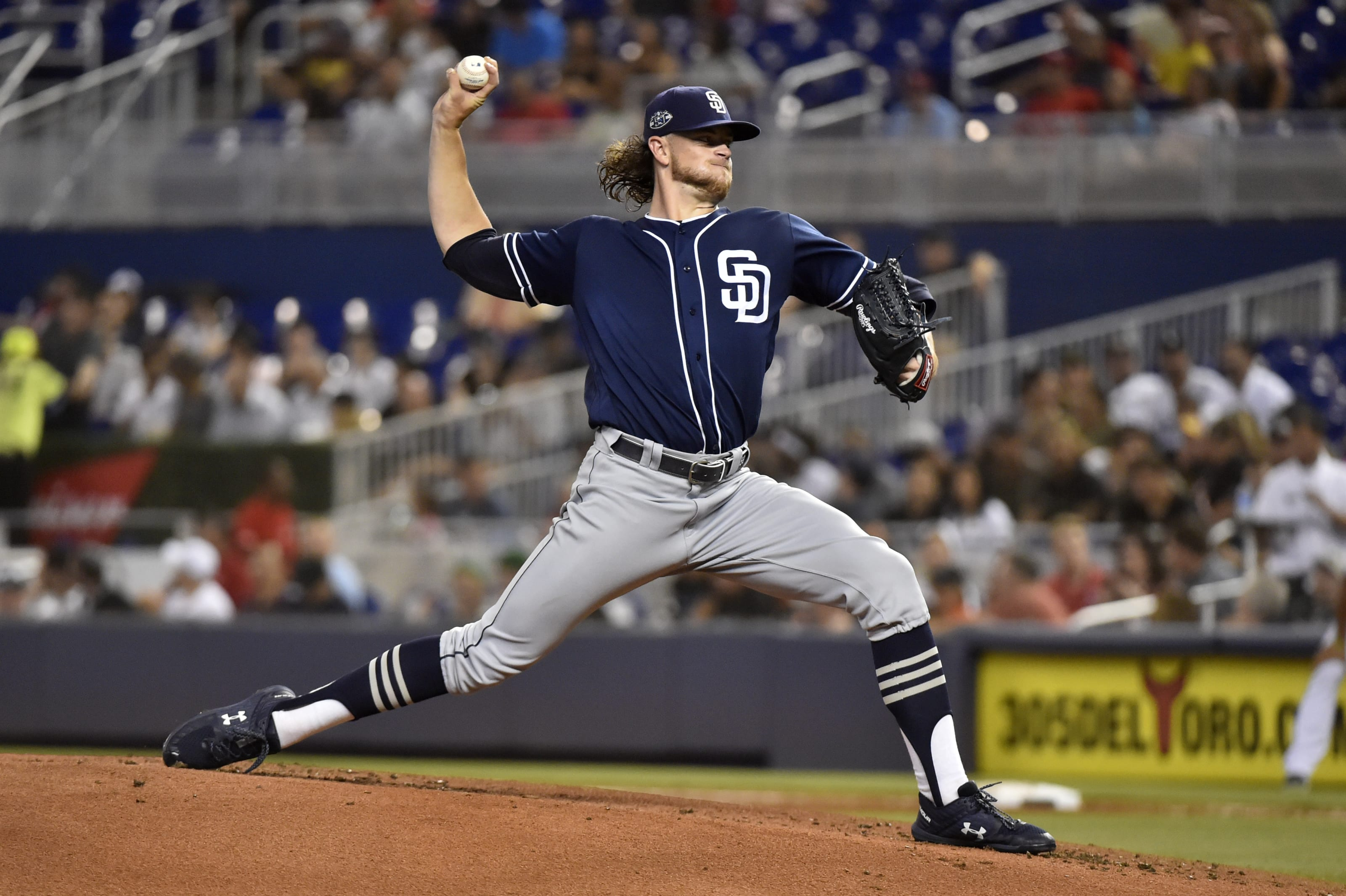 Chris Paddack of the San Diego Padres flirts with no-hitter