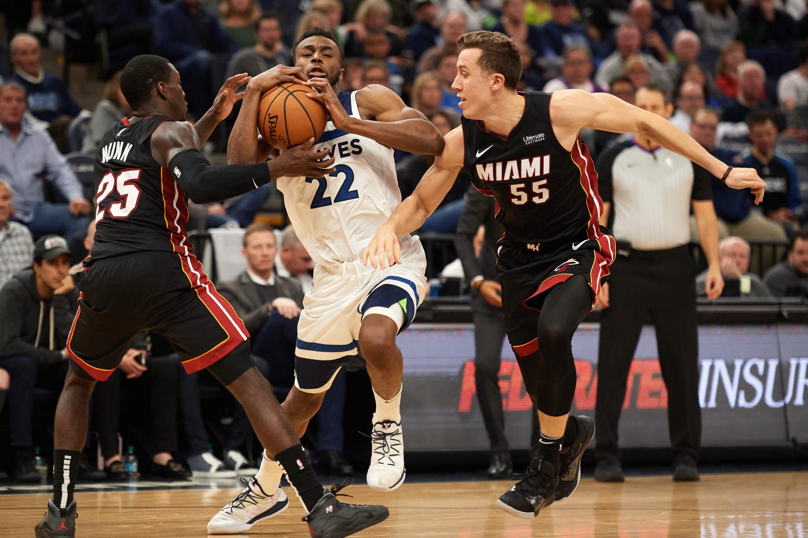 NBA Minnesota Timberwolves Andrew Wiggins Miami Heat Duncan Robinson