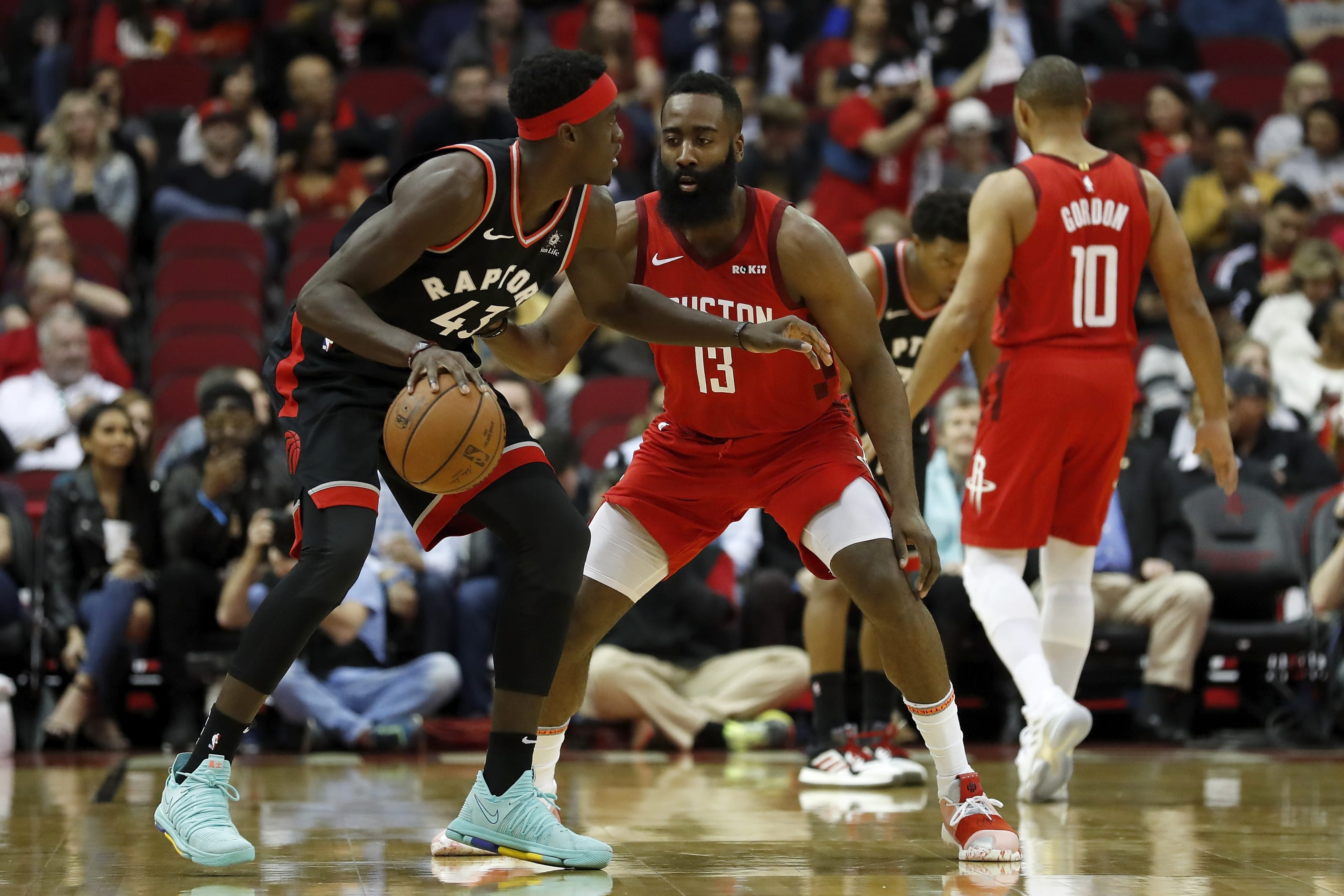 Toronto Raptors: Pascal Siakam, Houston Rockets: James Harden, Eric Gordon