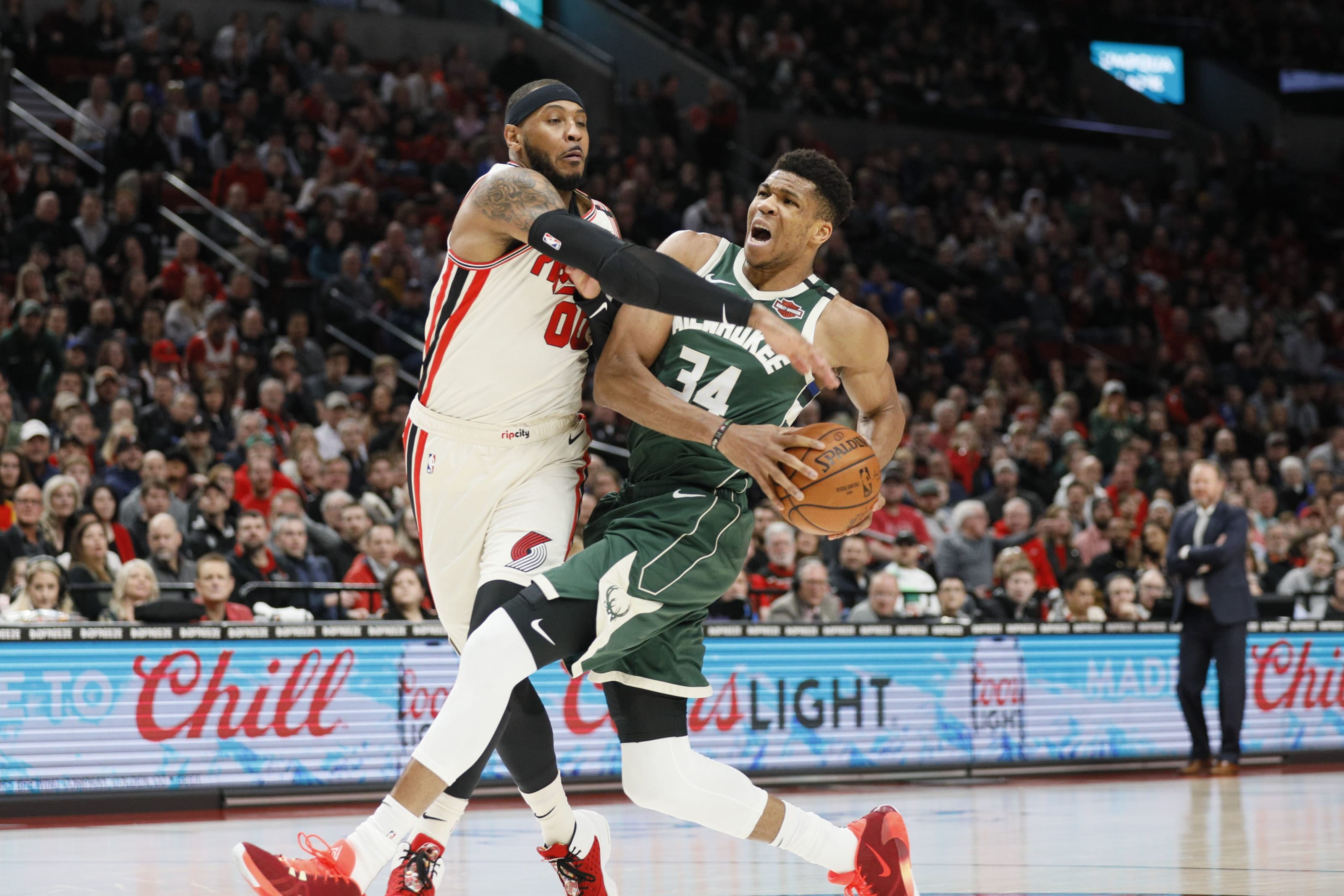 Milwaukee Bucks: Giannis Antetokounmpo, Portland Trail Blazers: Carmelo Anthony