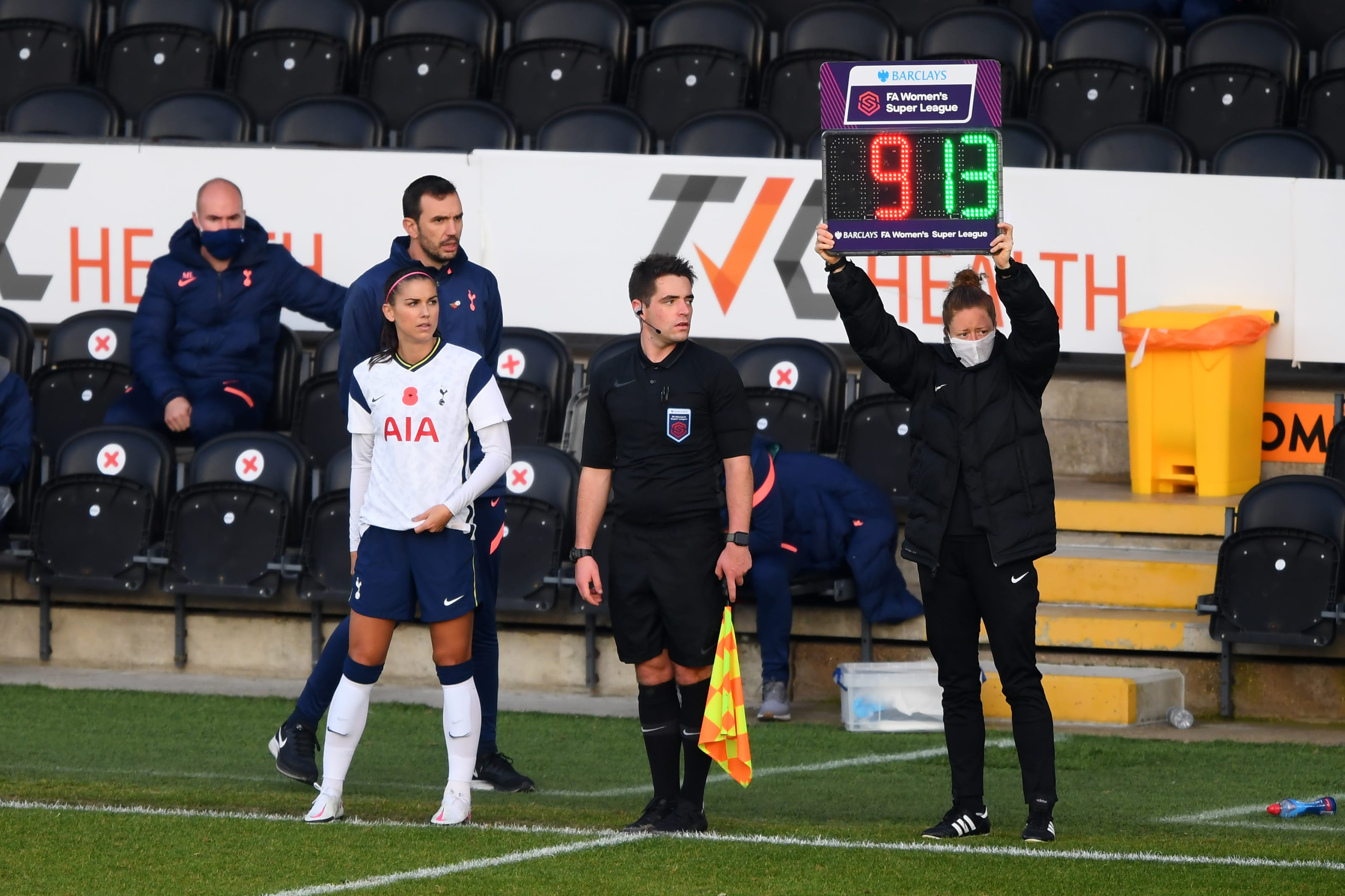 Alex Morgan Made Debut for Tottenham Hotspur Women