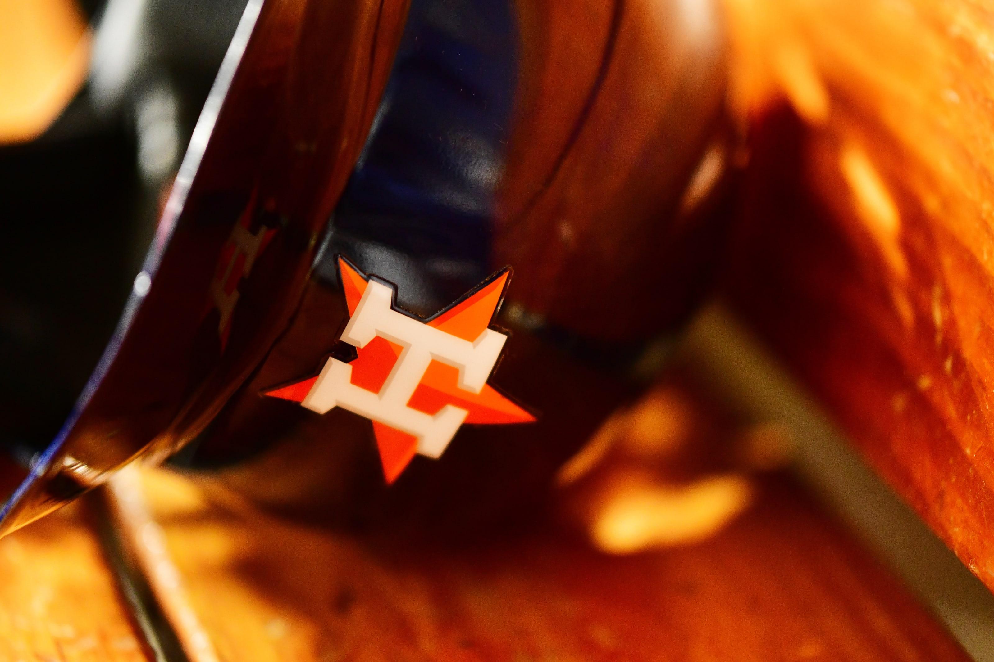 A Houston Astros helmet