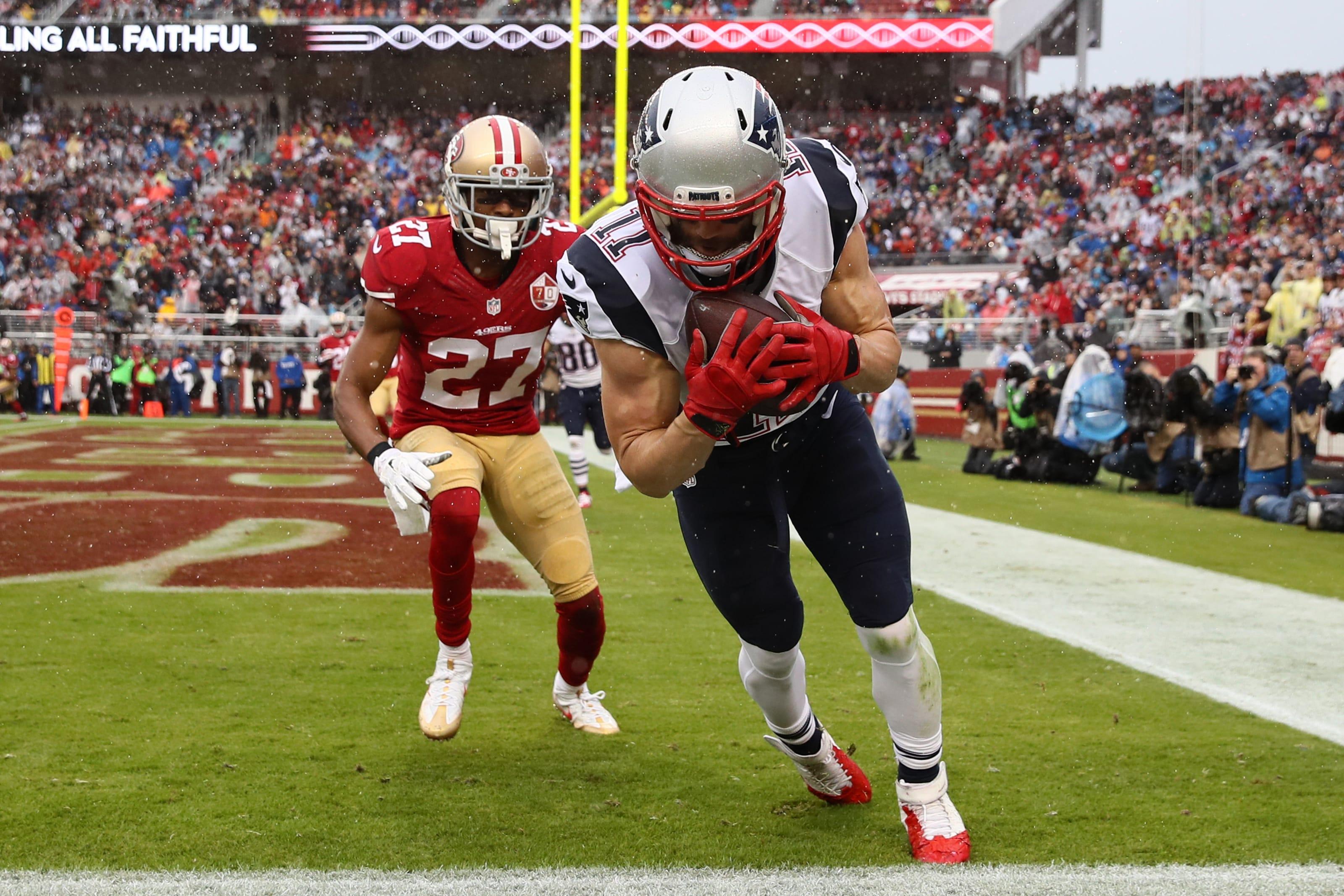 Julian Edelman, New England Patriots, San Francisco 49ers