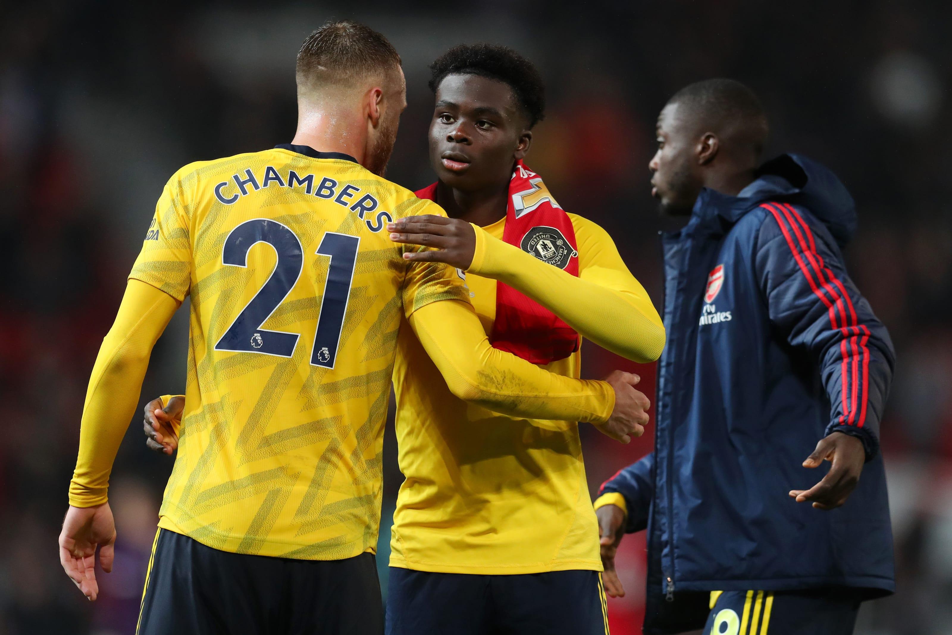 Arsenal, Calum Chambers, Bukayo Saka