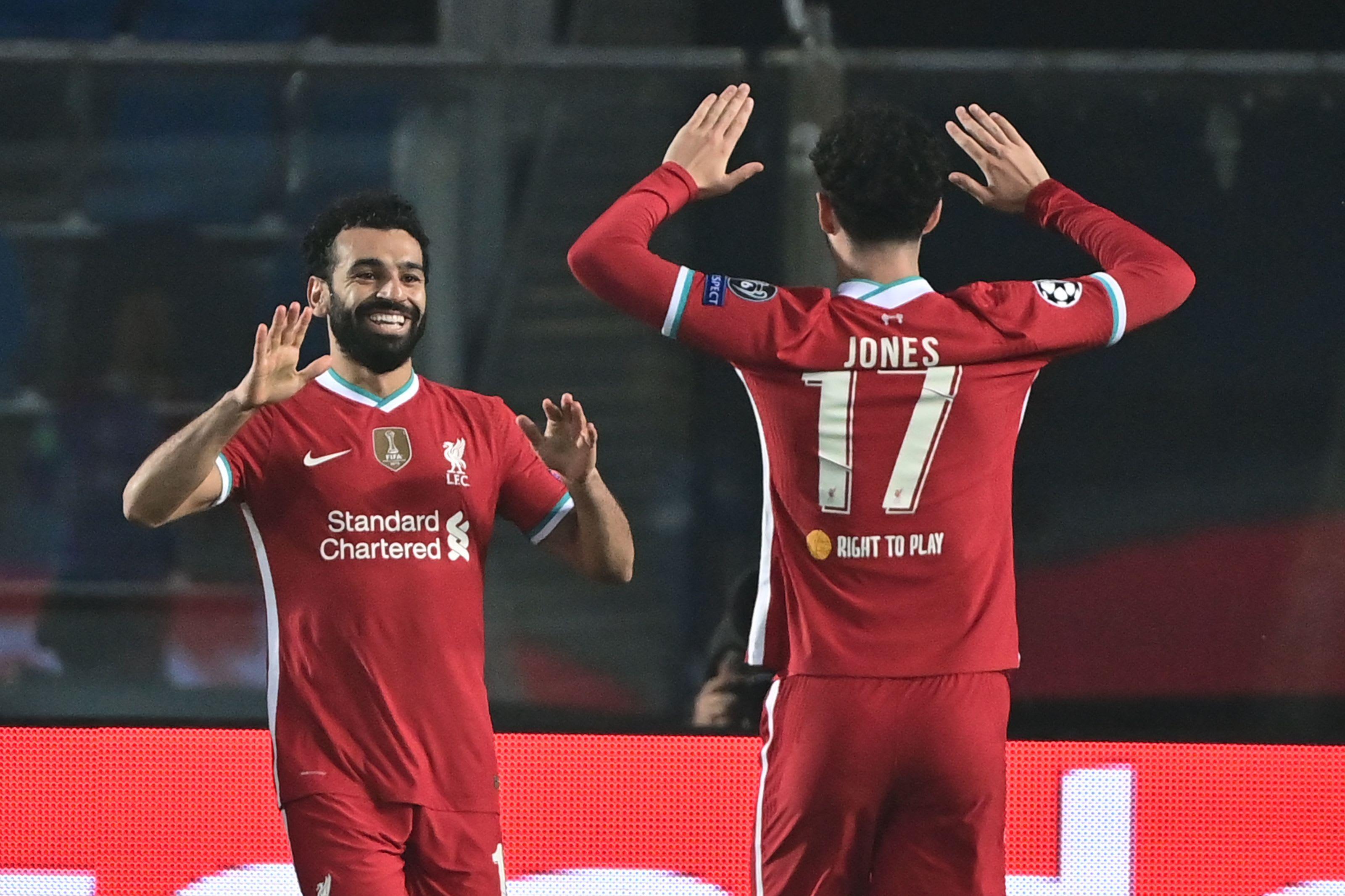 Liverpool, Mohamed Salah, Curtis Jones