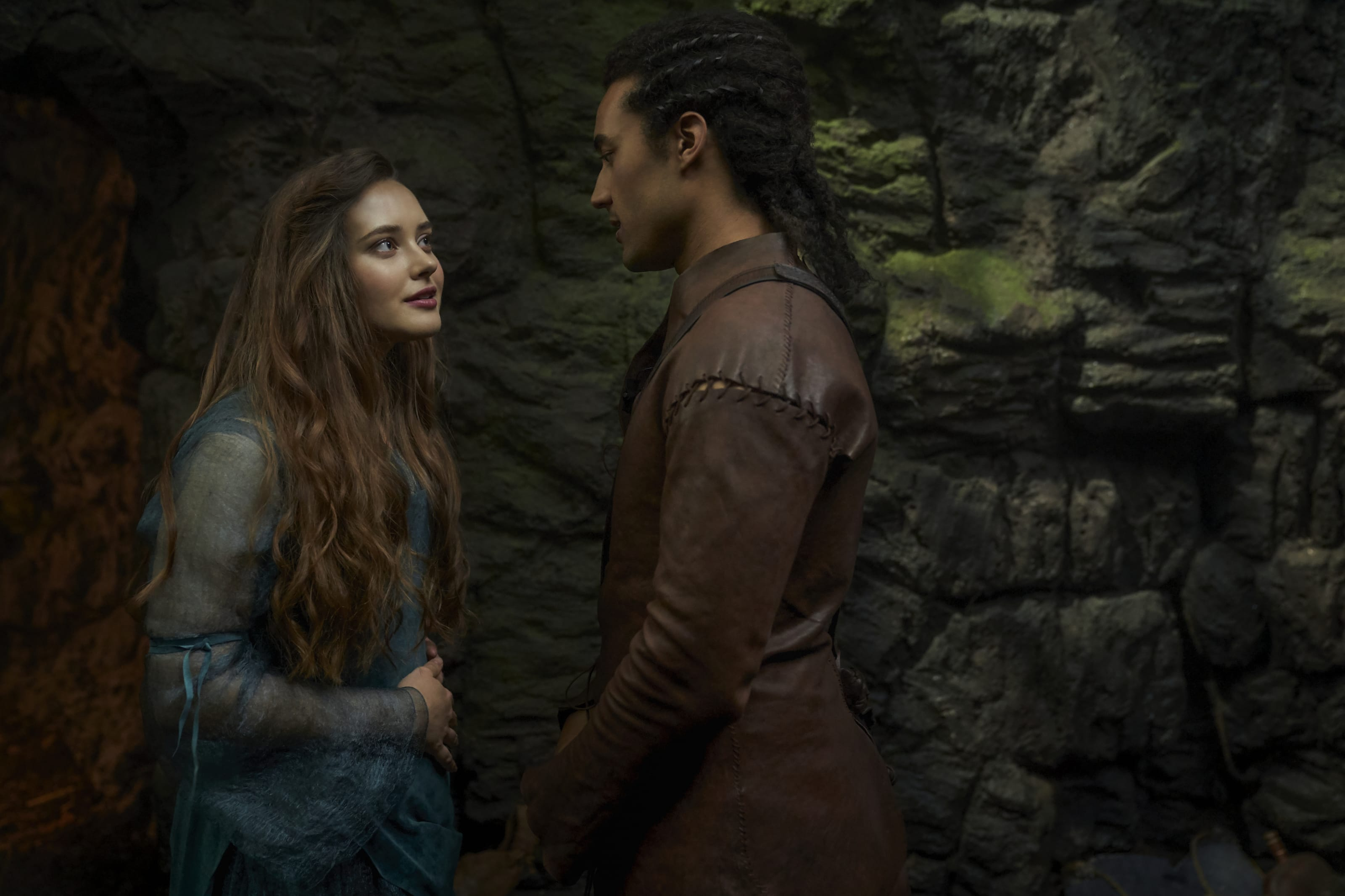 Katherine Langford and Devon Terrell in Netflix's Cursed