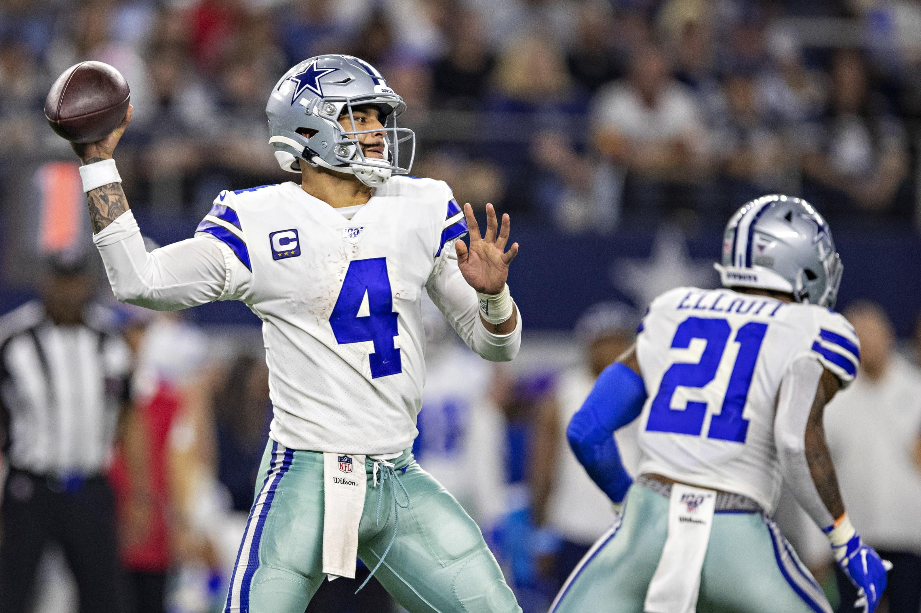 Dak Prescott #4 of the Dallas Cowboys