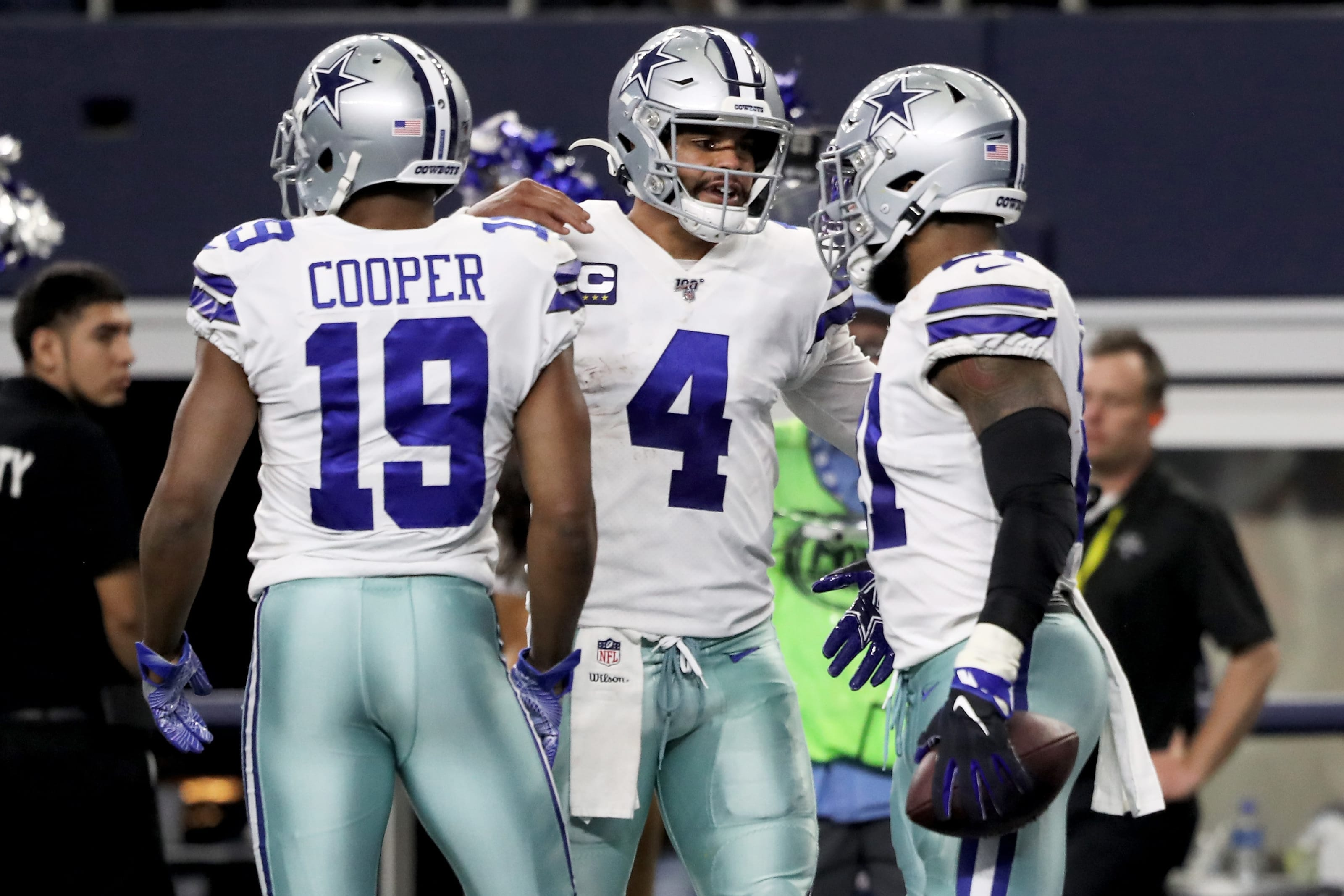 Amari Cooper, Dak Prescott, and Ezekiel Elliott, Dallas Cowboy