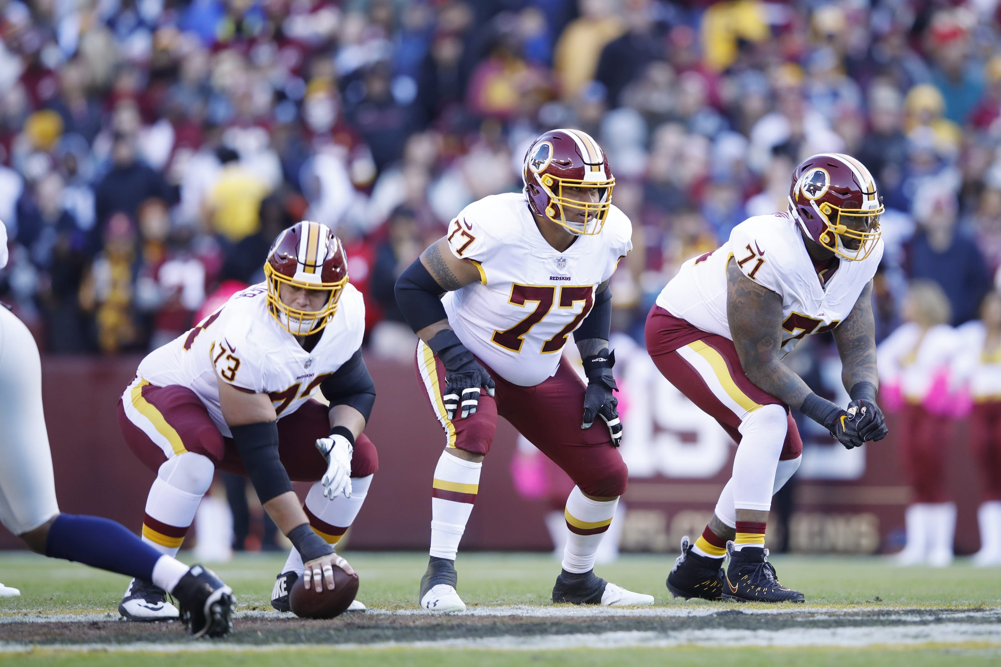 Trent Williams of the Washington Redskins could be a perfect fit for Tom Brady, (Photo by Joe Robbins/Getty Images)