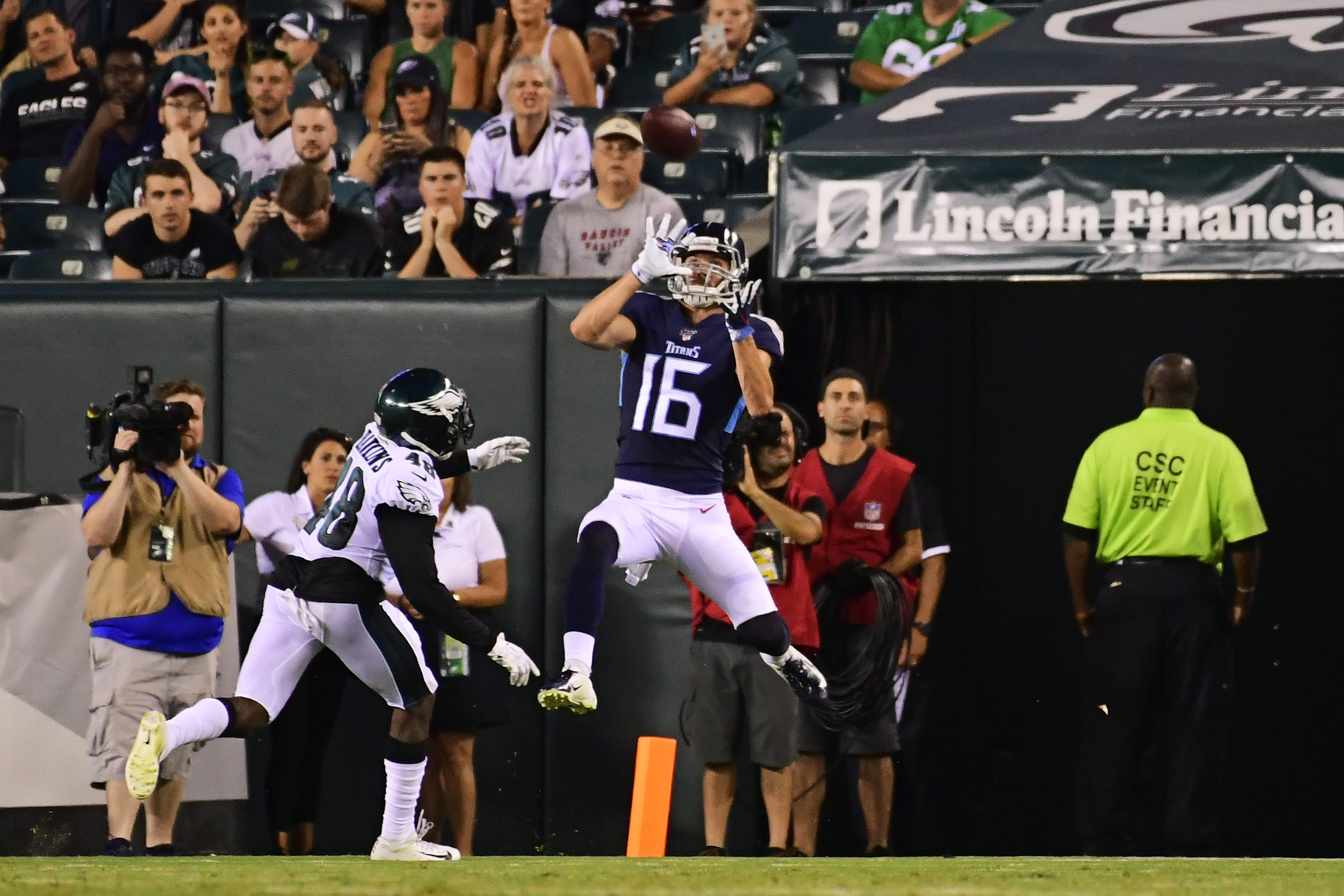 Tennessee Titans wide receiver, Cody Hollister.