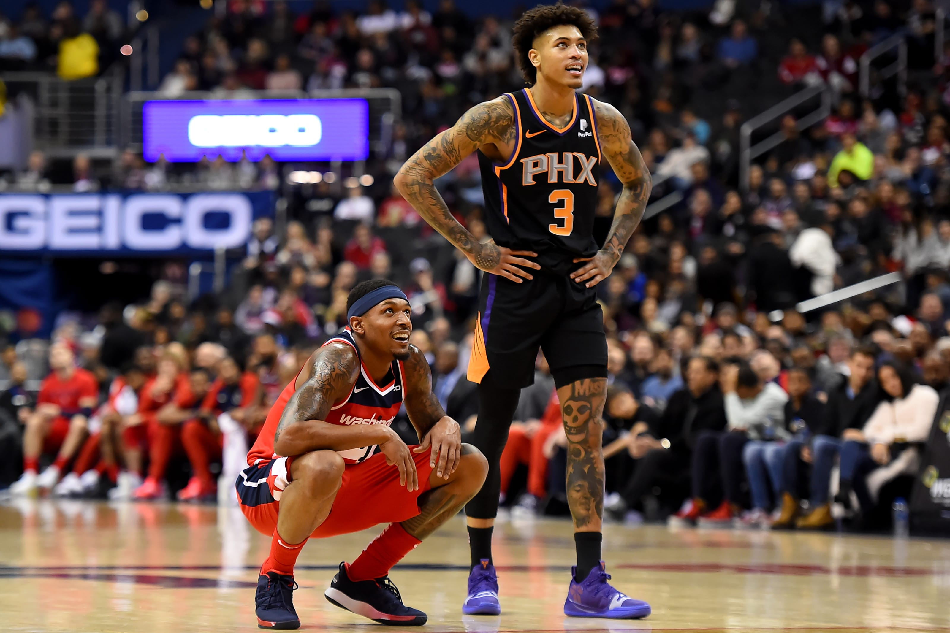 Bradley Beal Kelly Oubre Phoenix Suns (Photo by Will Newton/Getty Images)