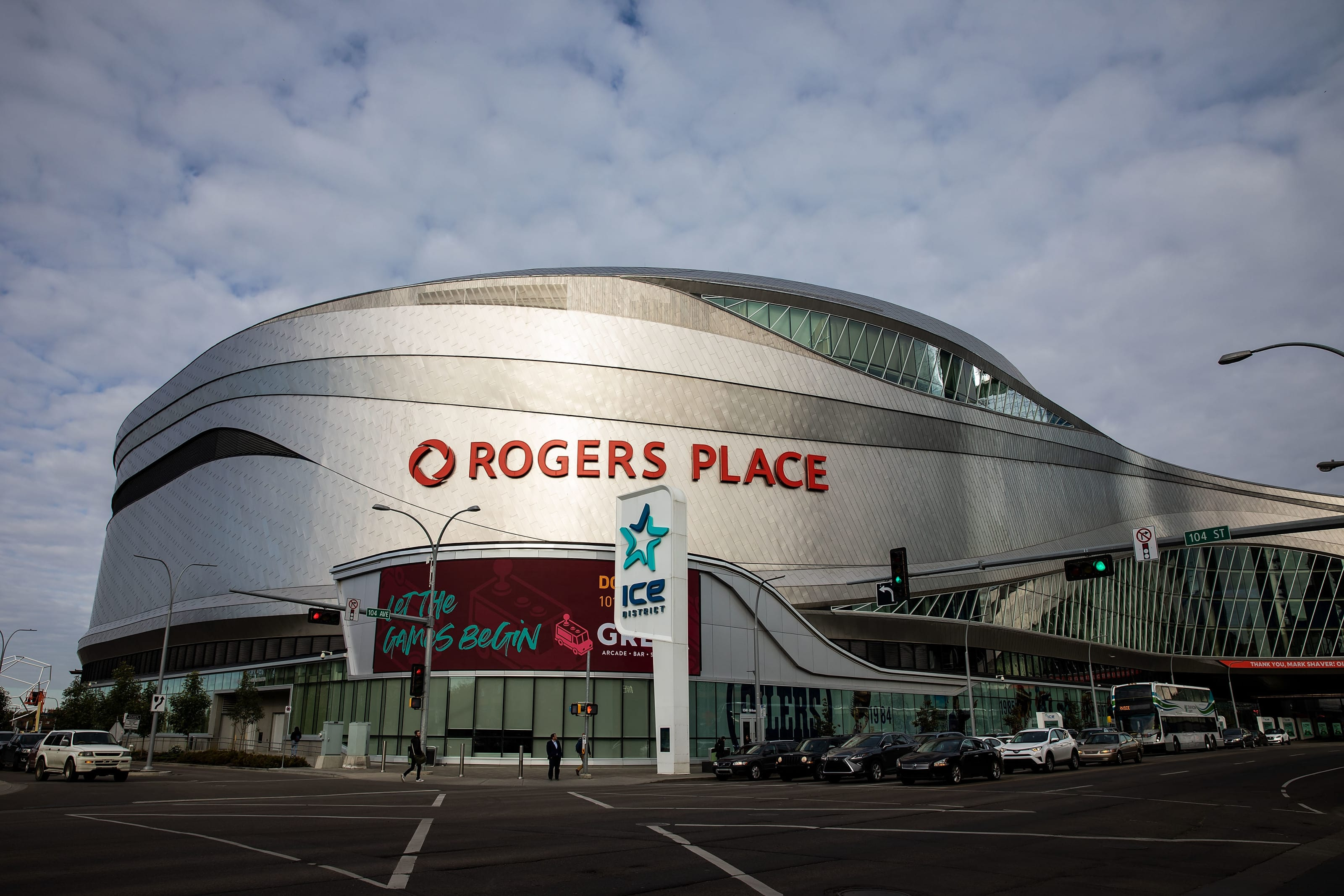 Rogers Place before the Edmonton Oilers home opener against the Vancouver Canucks on October 2, 2019.