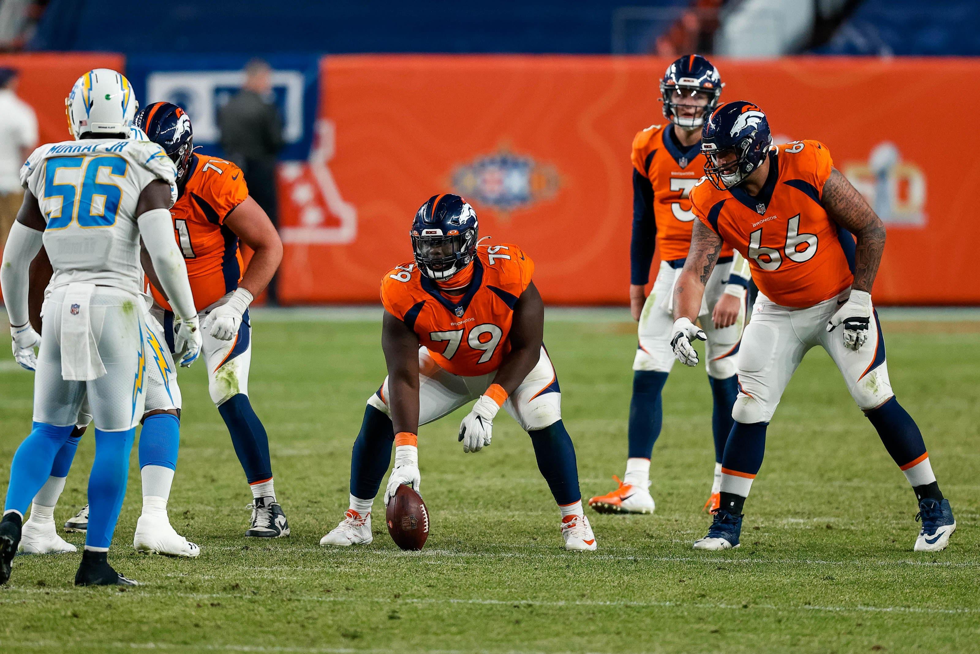 Lloyd Cushenberry III, Dalton Risner, Denver Broncos