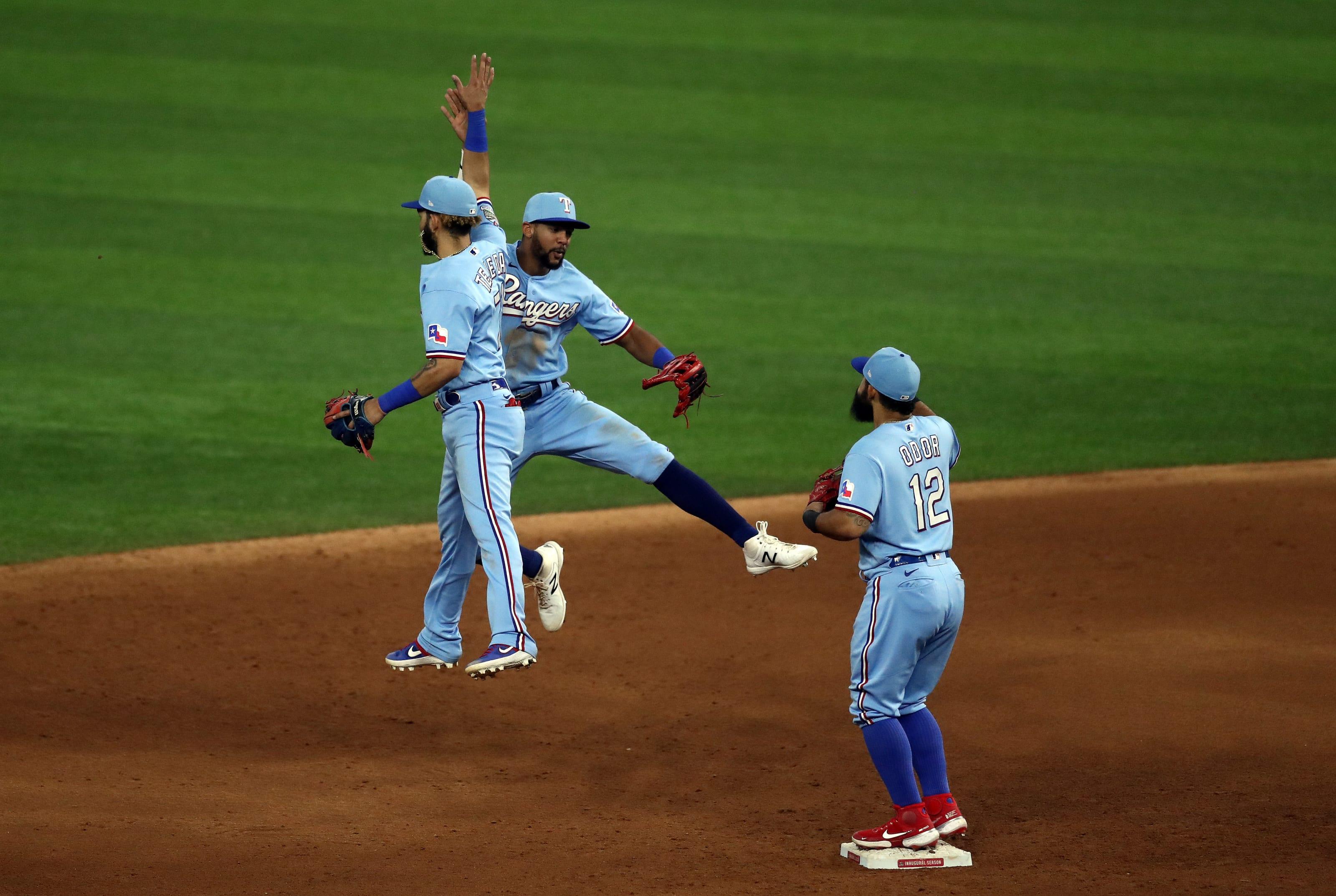 Powder Blue Texas Rangers
