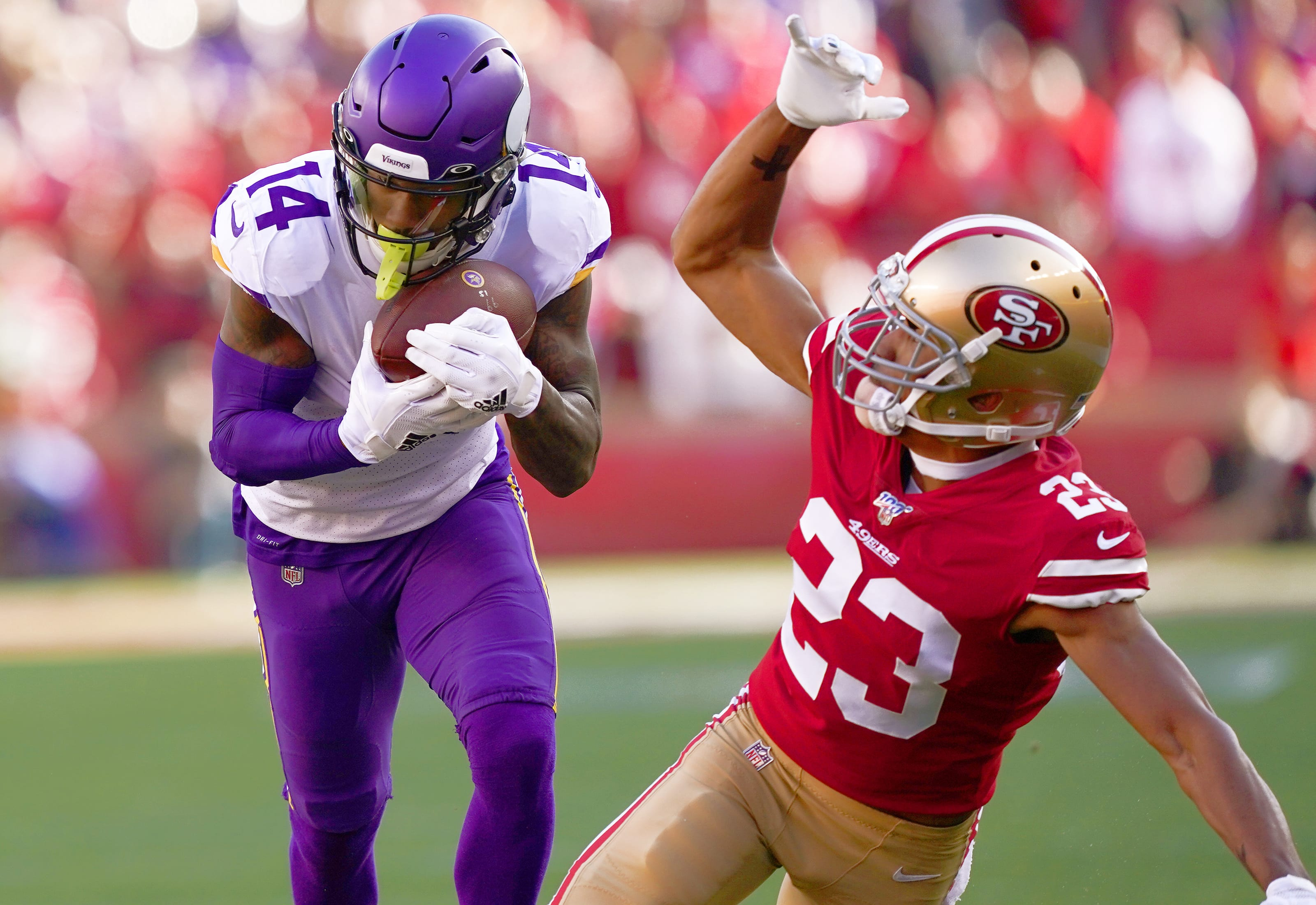 Stefon Diggs, Vikings, Ahkello Witherspoon, 49ers