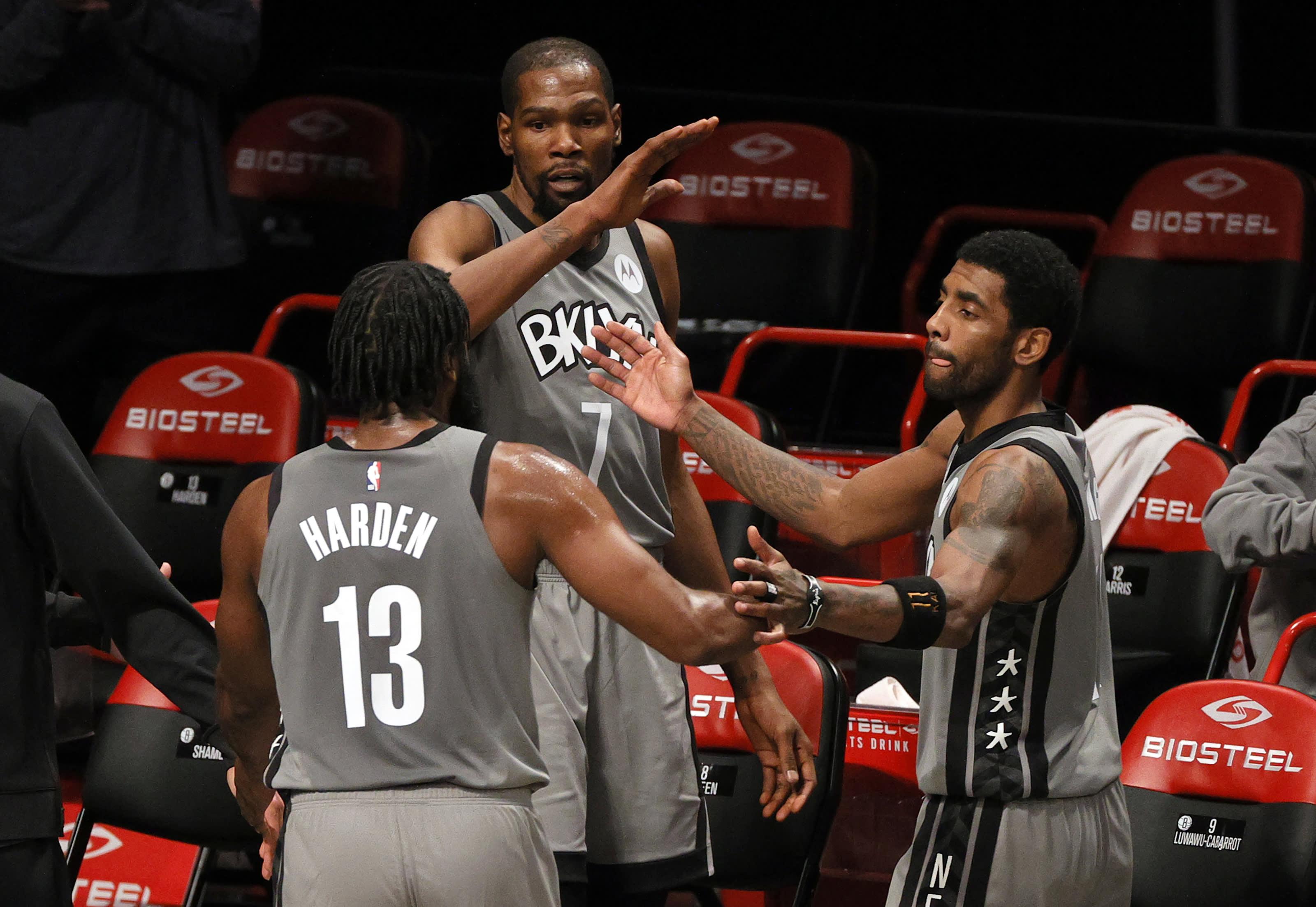 James Harden, Kyrie Irving, Brooklyn Nets