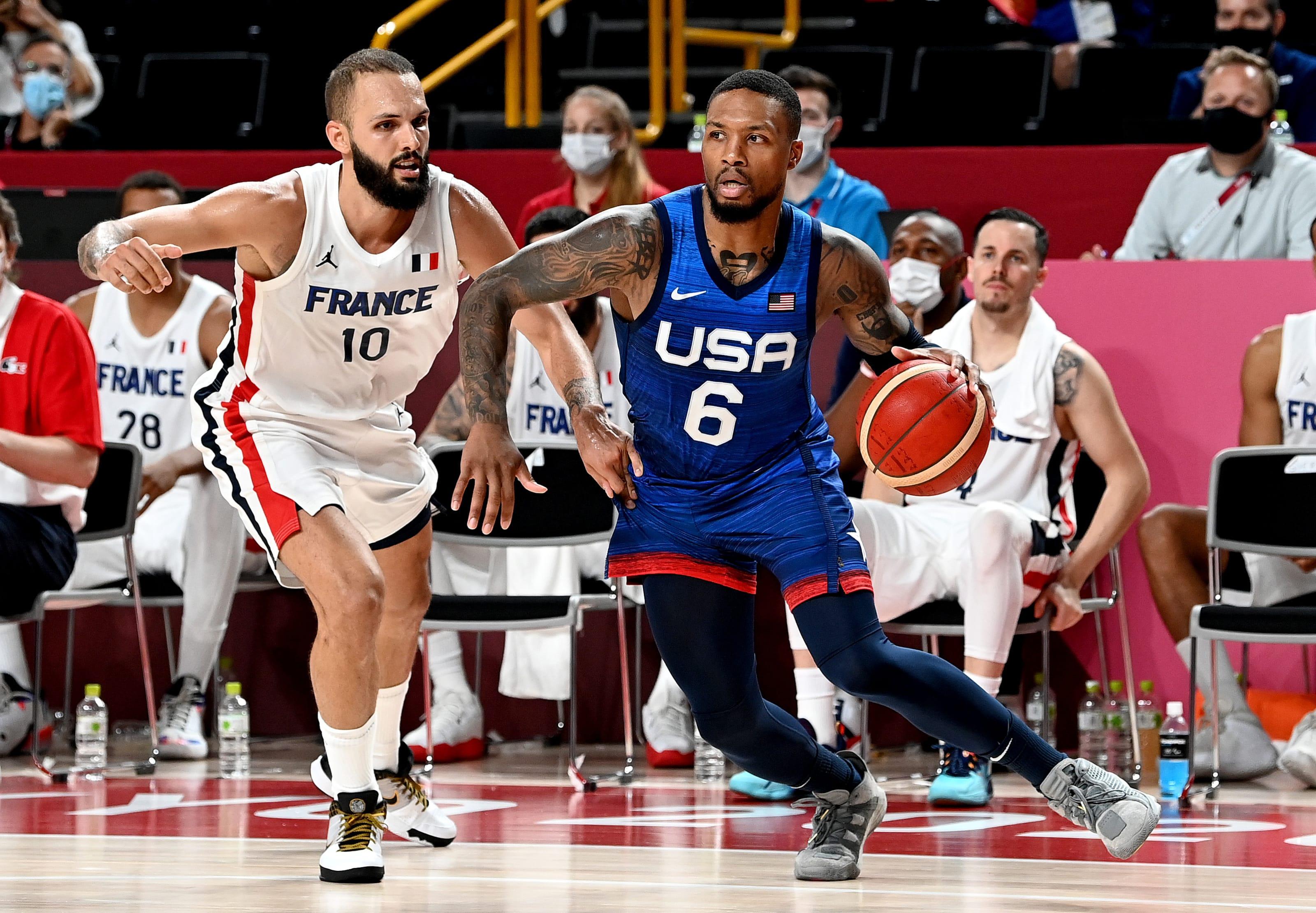 Damian Lillard, Evan Fournier, Portland Trail Blazers, Boston Celtics, USA Basketball