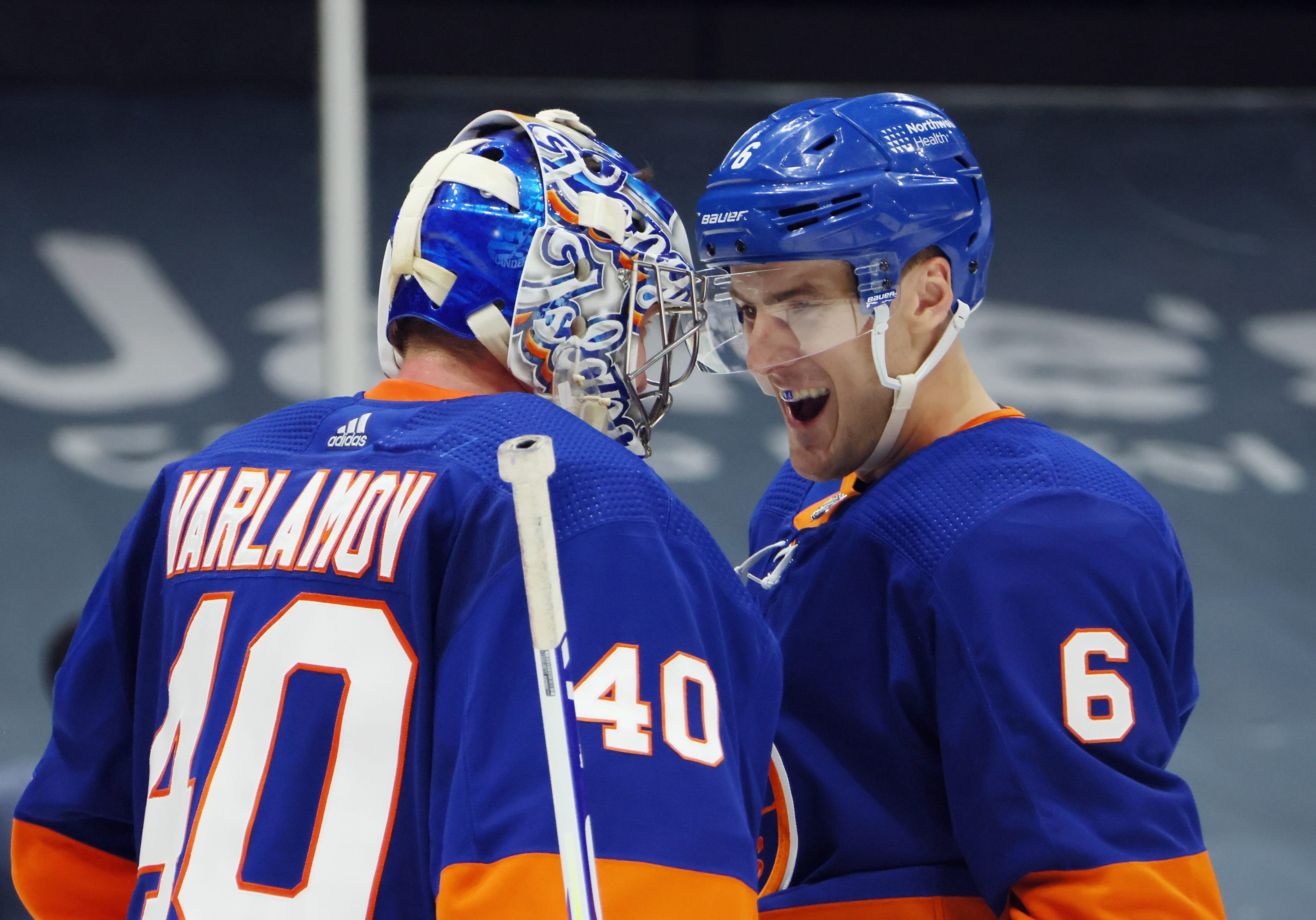 Semyon Varlamov (40), Ryan Pulock (6)