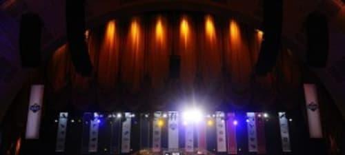 Apr 26, 2012; New York, NY, USA; A general view of the 2012 NFL Draft at Radio City Music Hall. Mandatory Credit: James Lang-USA TODAY Sports