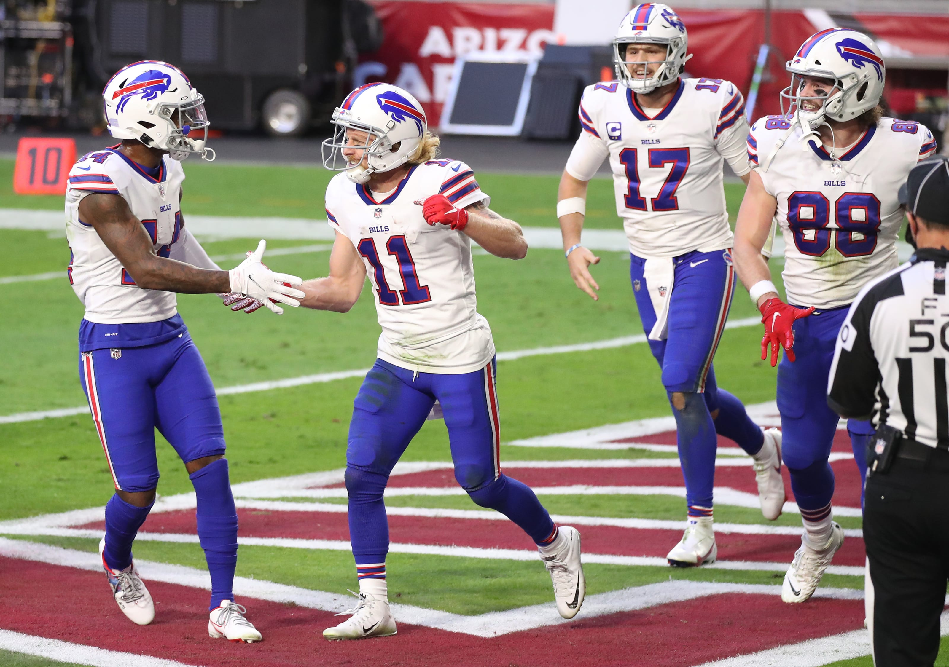 Wide receiver duo, Sefon Diggs, Cole Beasley, Buffalo Bills