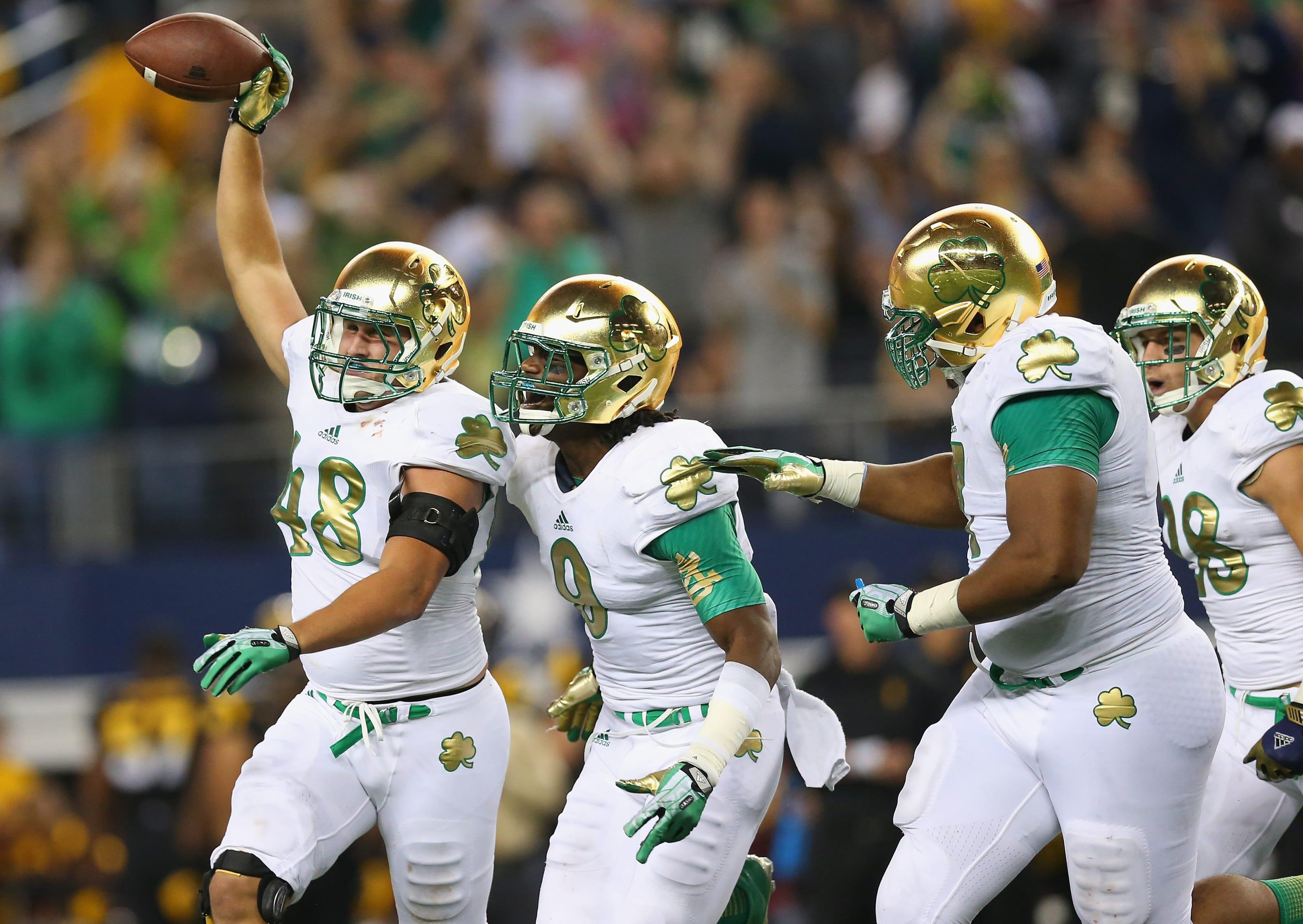 Notre Dame Football Ranking Shamrock Series Uniforms