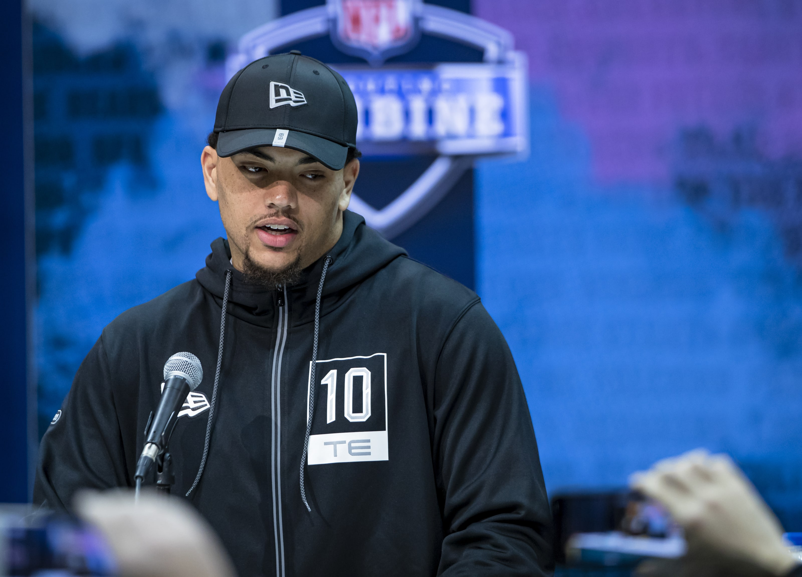 Thaddeus Moss at the NFL Combine