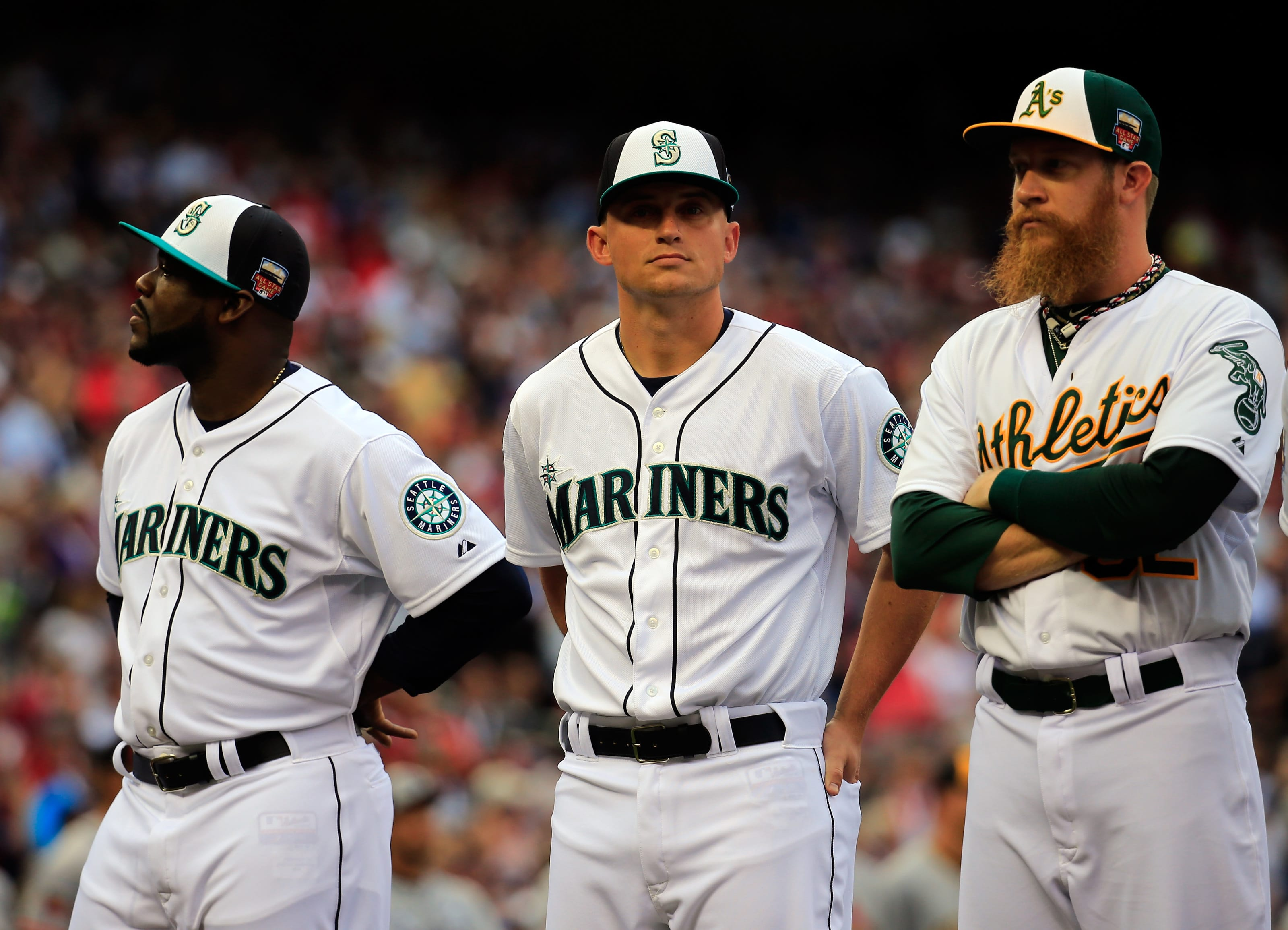 Seattle Mariners: Kyle Seager and Fernando Rodney at the 2014 All-Star game.