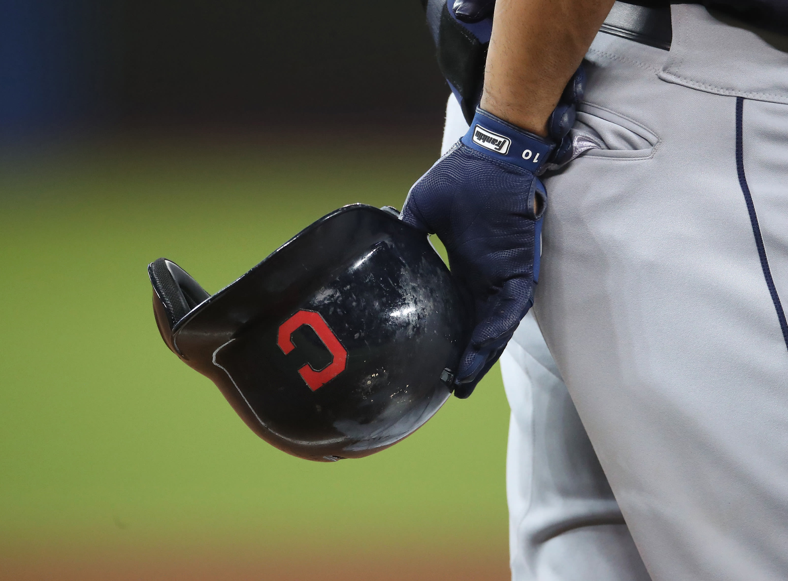 The Cleveland Indians helmet with a block C.