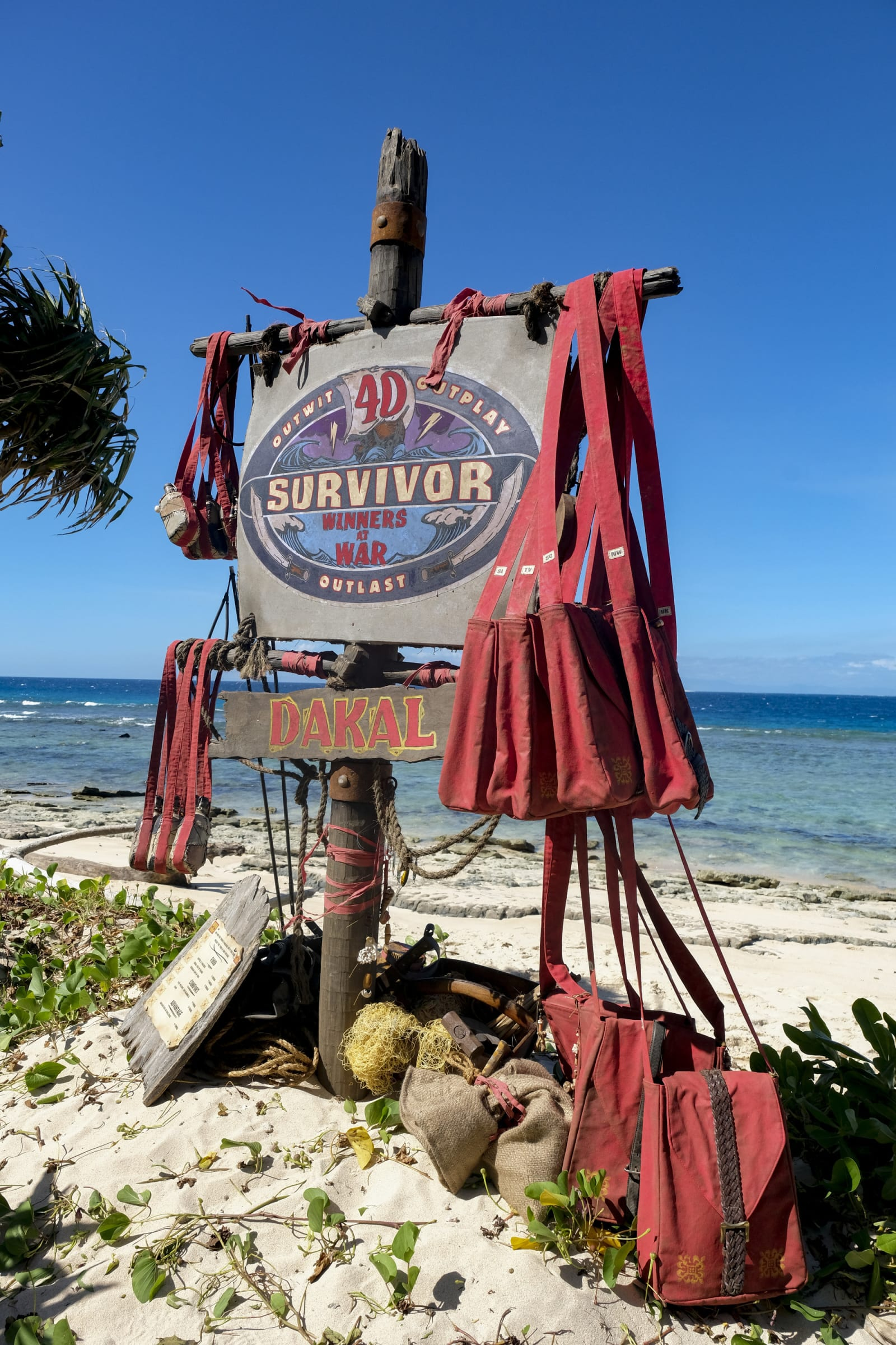 Dakal Tribe flag Survivor Winners at War episode 1