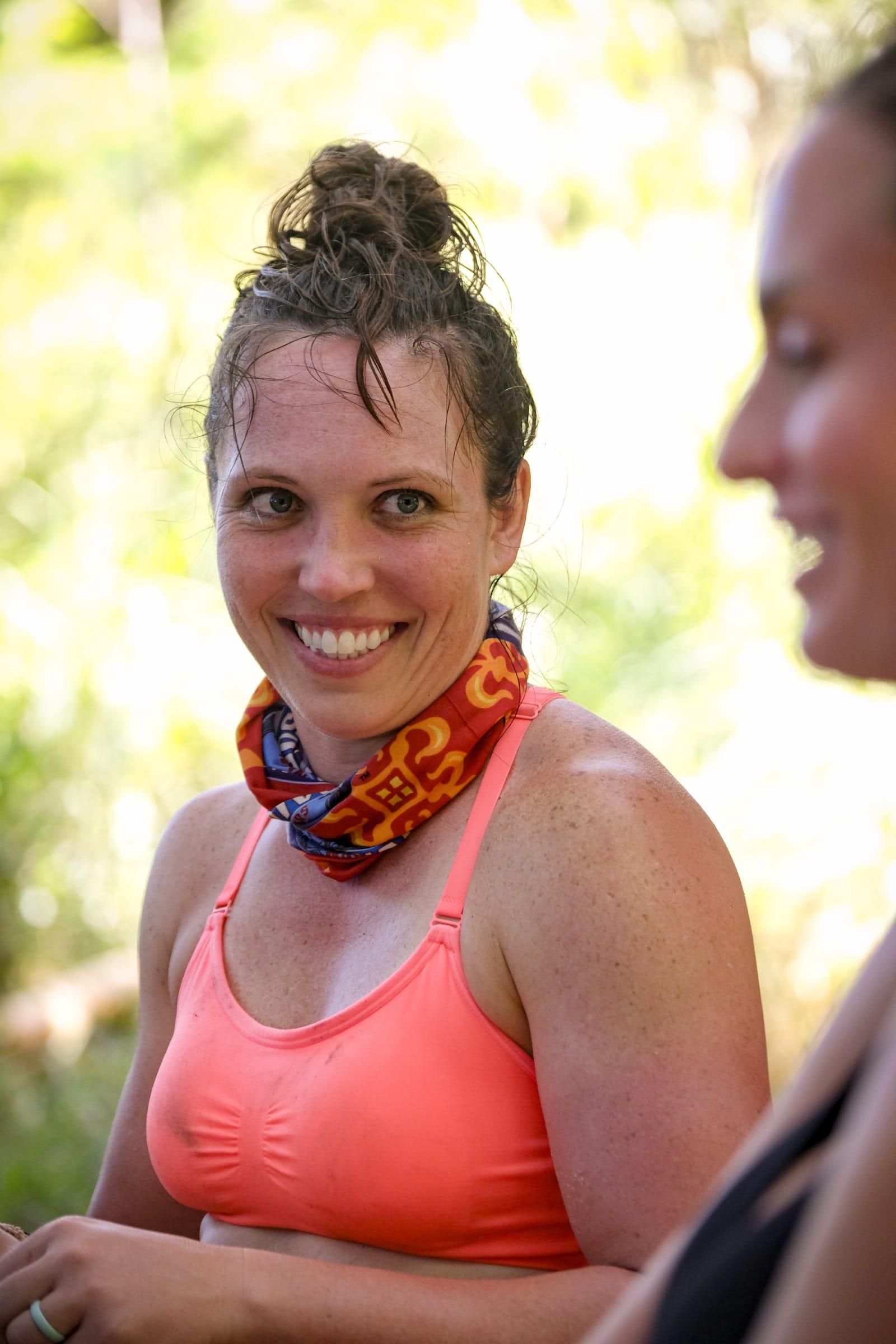 Sarah Lacina Kim Spradlin Survivor Winners at War episode 1