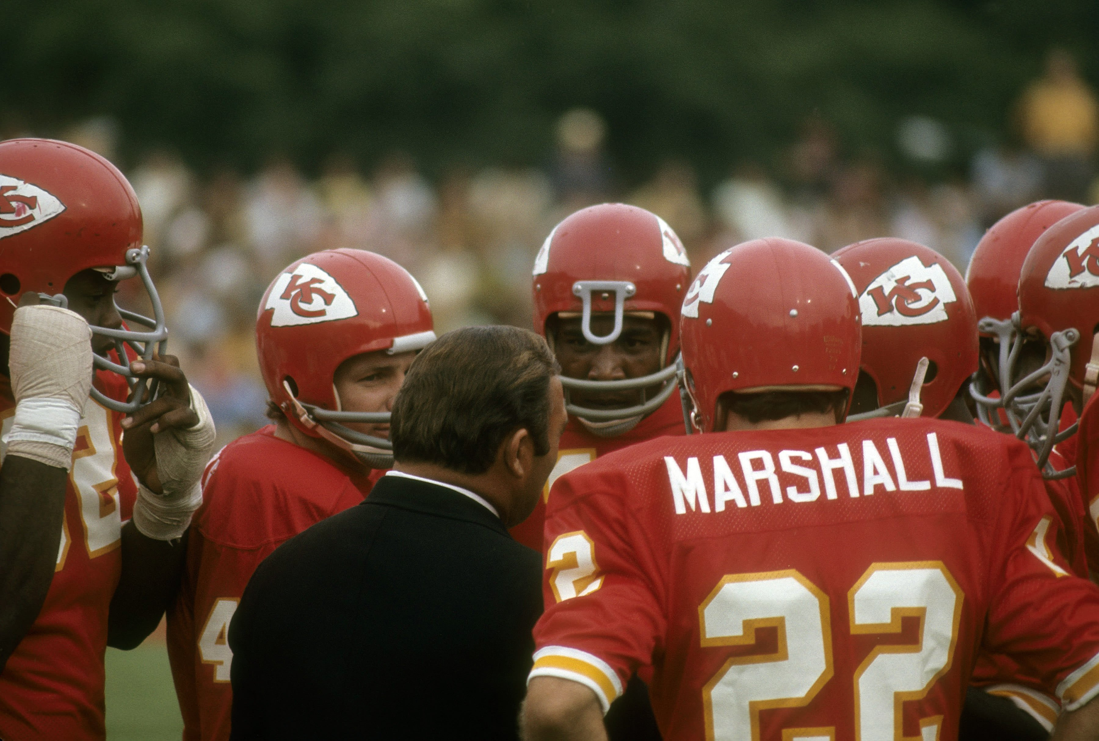 Head Coach Hank Stram of the Kansas City Chiefs (Photo by Focus on Sport/Getty Images)