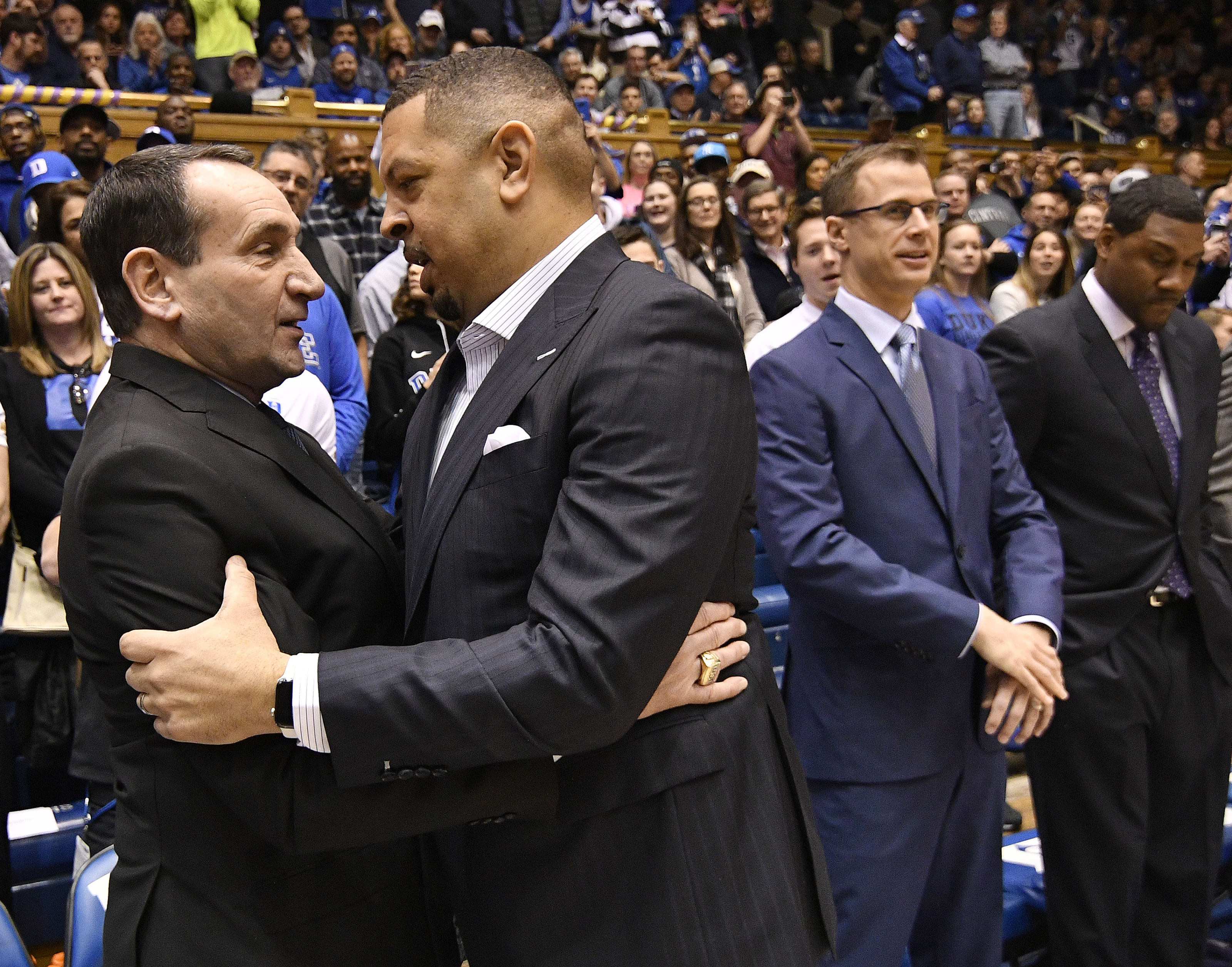 Coach K after the Duke win Tuesday night.