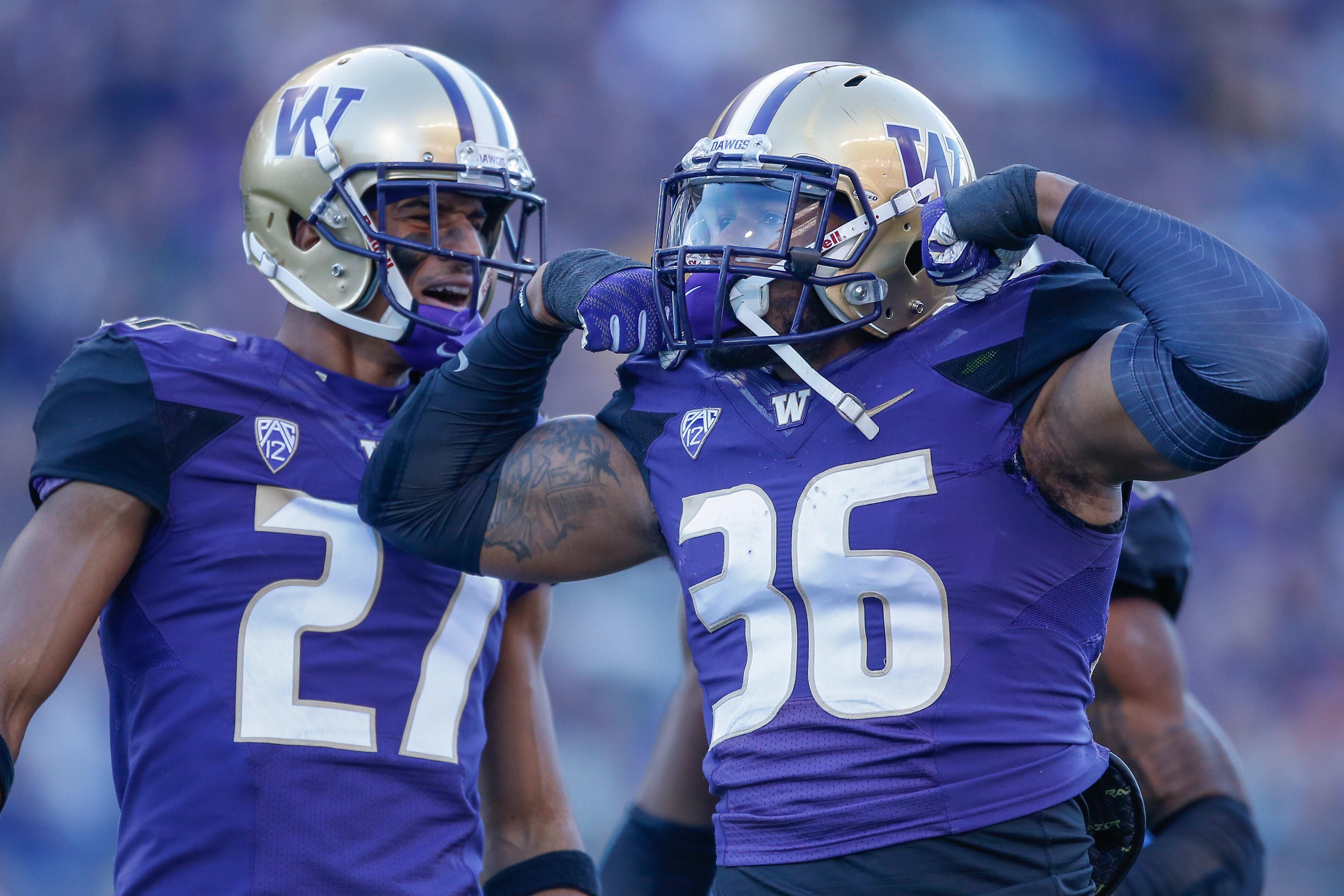 Azeem Victor Washington Huskies Football Jersey - Purple