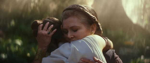 General Leia Organa (Carrie Fisher) and Rey (Daisy Ridley) in STAR WARS: EPISODE IX