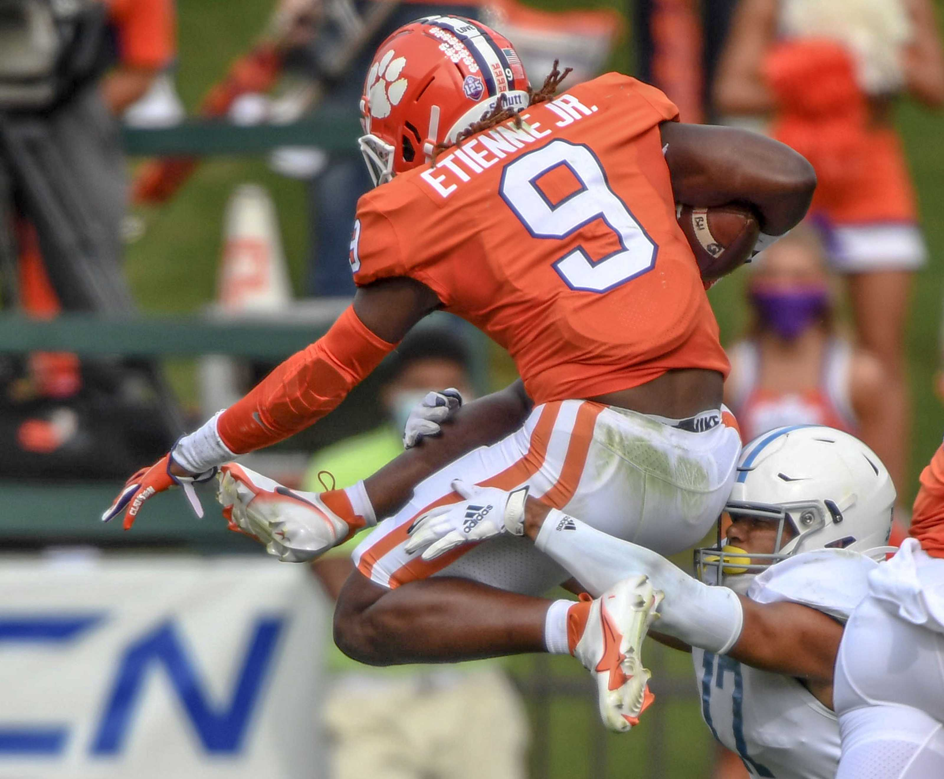 Travis Etienne, potential draft pick for the Tampa Bay Buccaneers
