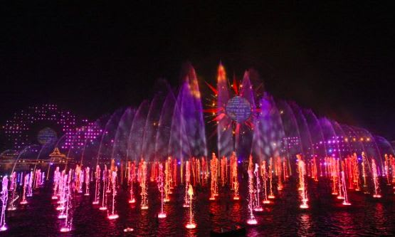 The World of Color lights up the sky at California Adventure