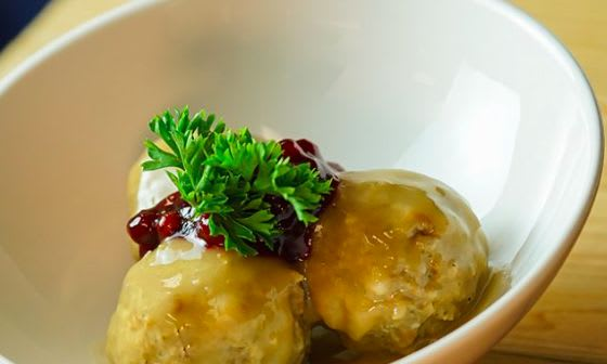 Swedish meatballs are one of the cultural foods you can try at Disneyland during the Festival of Holidays