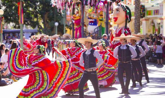 The Mexican parade celebrates diverse cultures