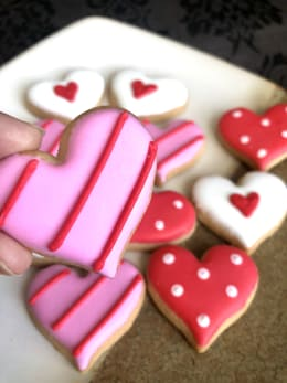 Mini Valentines Day Crunchy Sugar Cookies