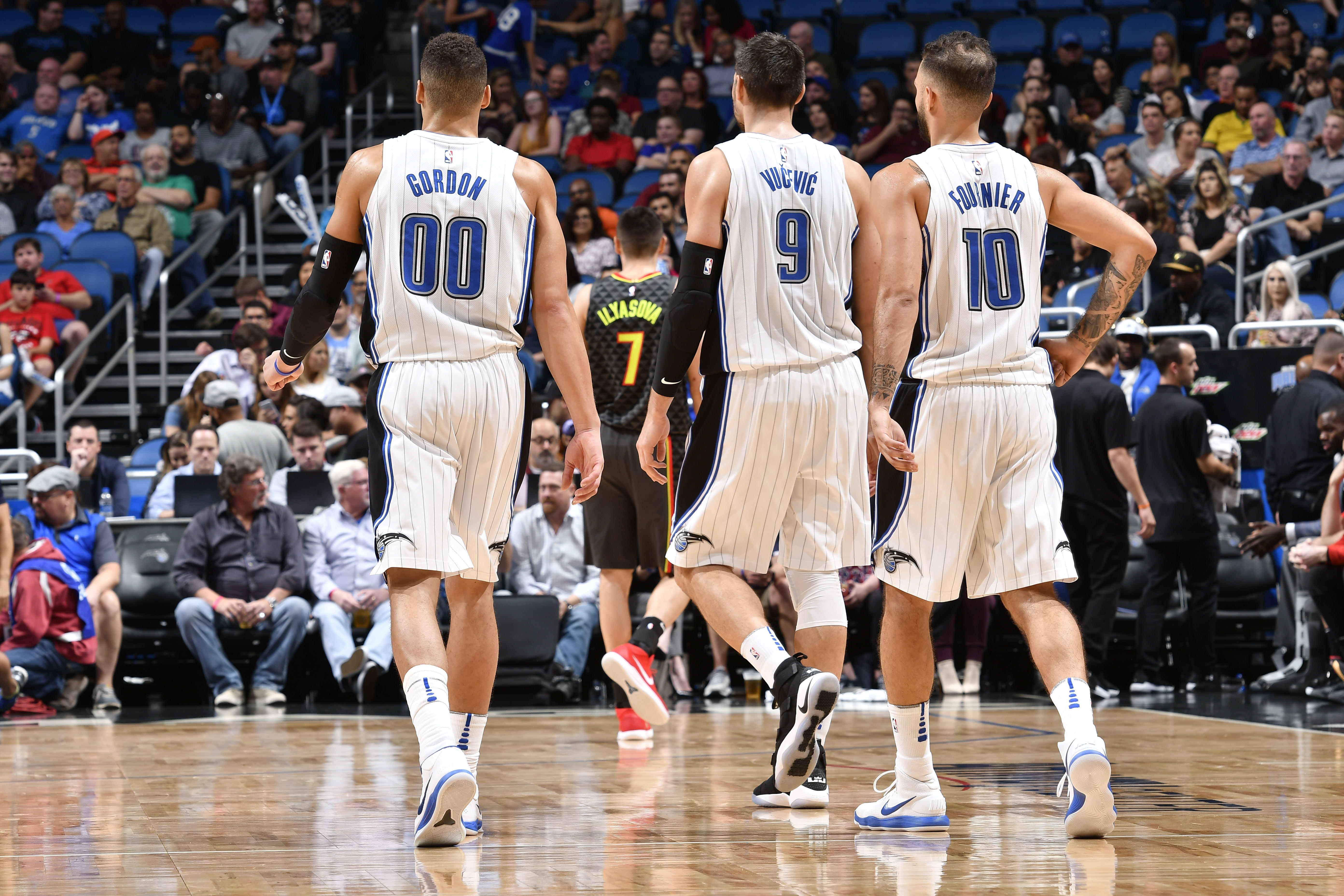 Aaron Gordon, Nikola Vucevic, Evan Fournier, Orlando Magic