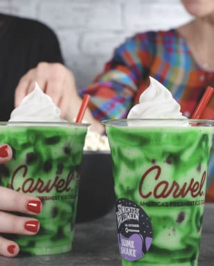Carvel Slime Shake for 31 Nights of Halloween, photo credit Carvel