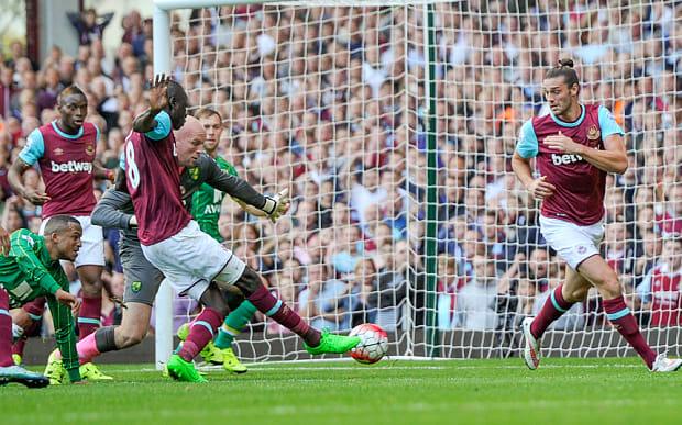 Barclays Premier League 2015/16 West Ham United v Norwich City Upton Park, Green St, Upton Park, London, United Kingdom - 26 Sep 2015