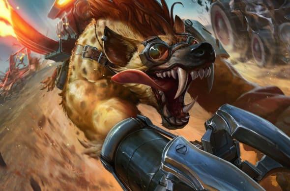Hyena Warwick. League of Legends.