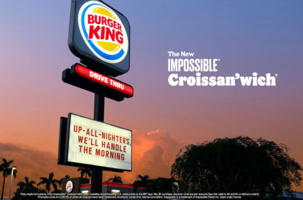 Burger King, Impossible Croissan'wich