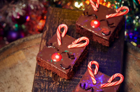 Reindeer brownies on the Universal Orlando Holiday treats menu