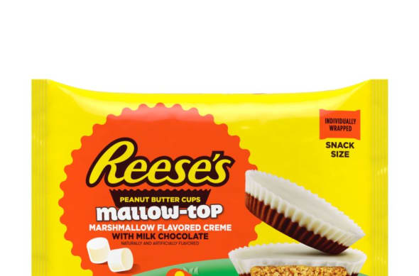 New Hershey Easter Candy include Reese's Mallow-Top Peanut Butter Cups
