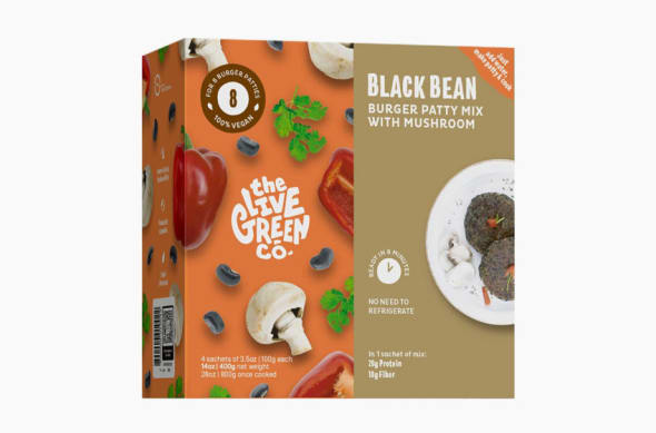 The Live Green Co Bean Burger Mix with Mushrooms