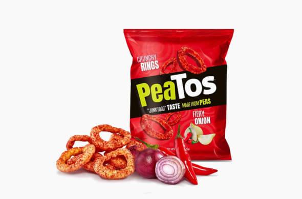 Peatos Fiery Onion snacks