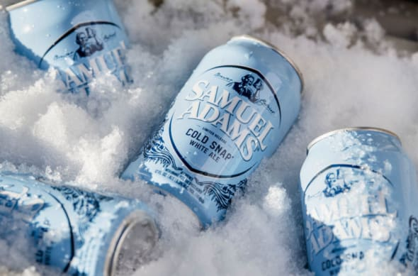 Samuel Adams Cold Snap beer available in Samuel Adams Gameday Variety Pack