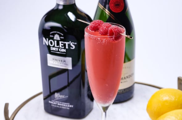 NOLET'S Silver Gin Cocktails, French 75